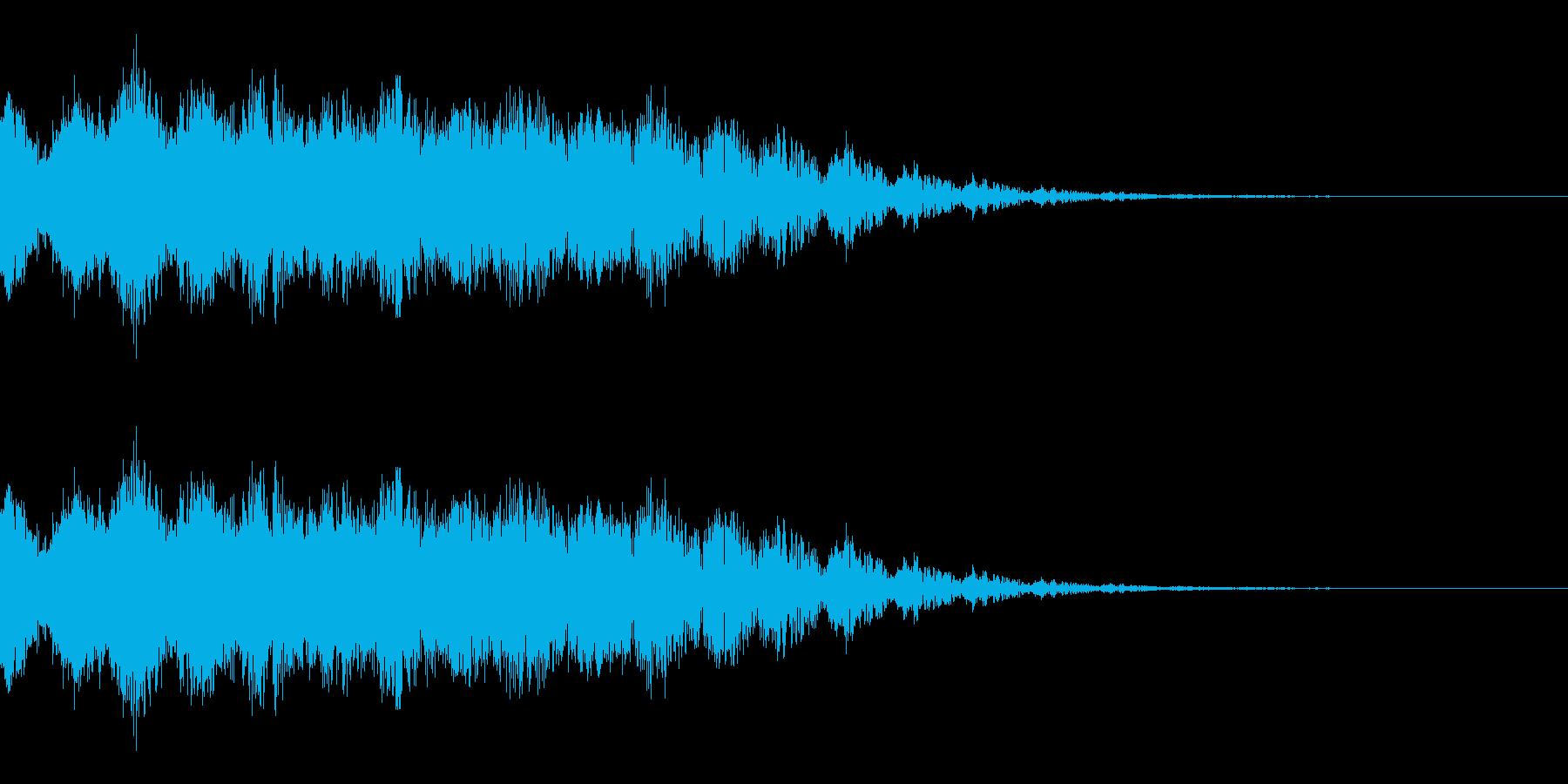 ビームを撃つ音(SF/宇宙/光線)の再生済みの波形