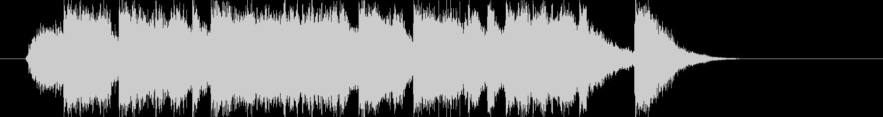 ミディアムテンポのイントロの未再生の波形