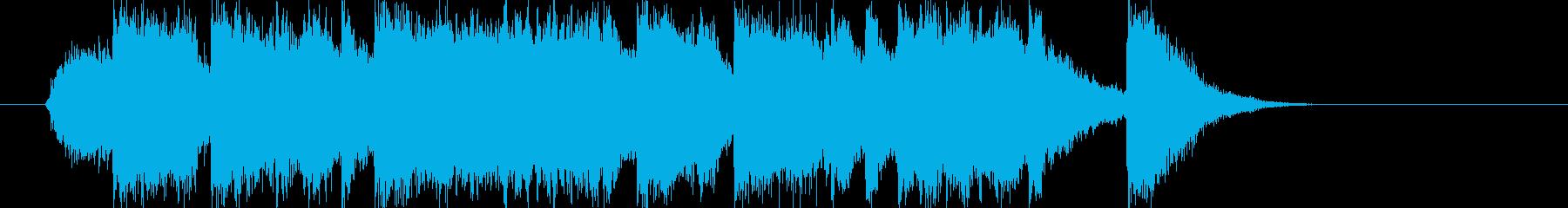 ミディアムテンポのイントロの再生済みの波形