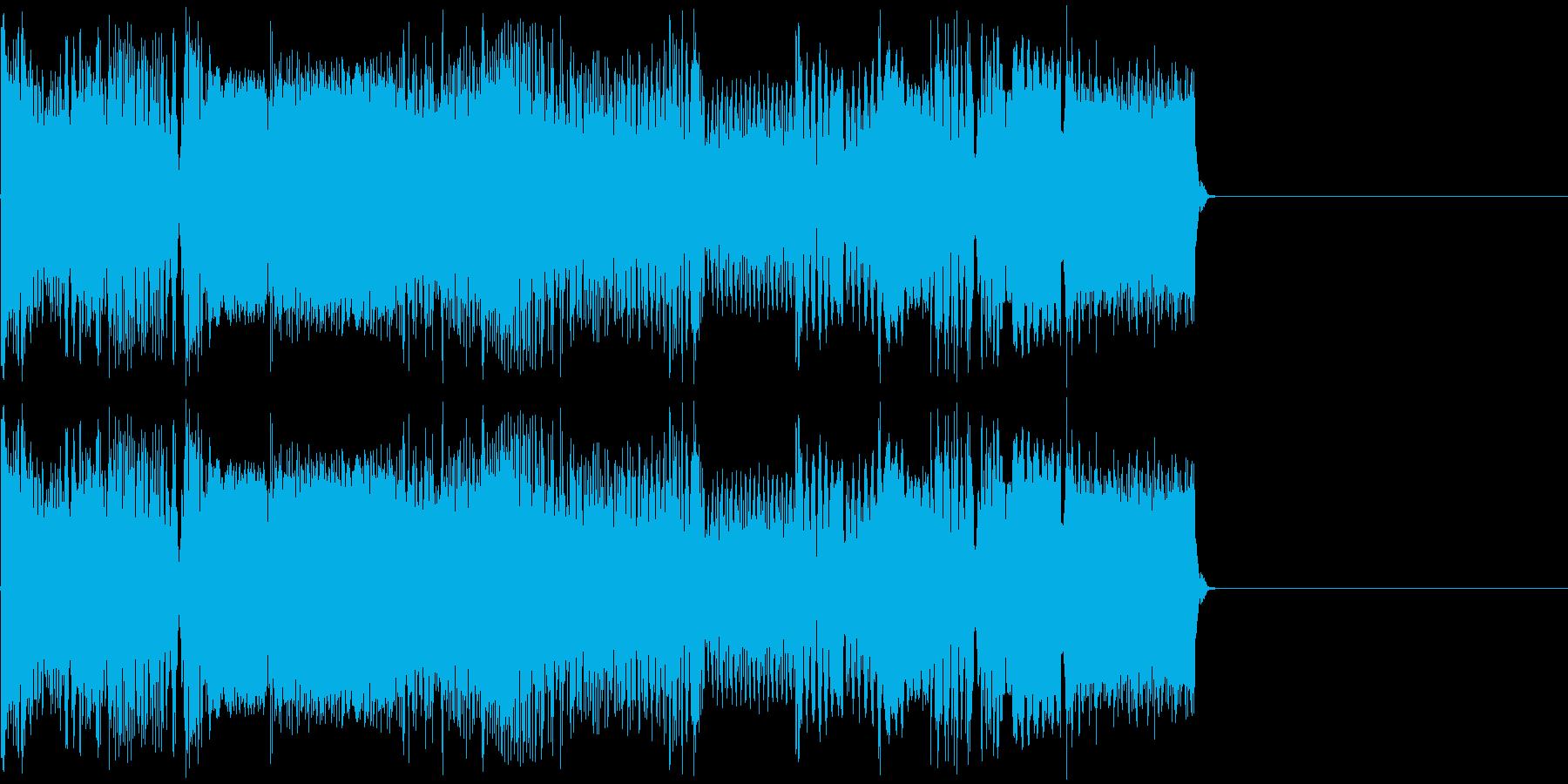 サイバーな機械電子音の再生済みの波形