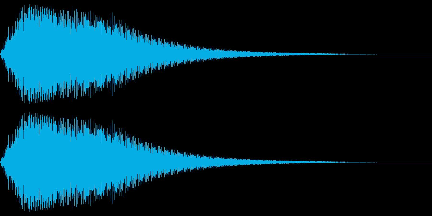 ピアノショッキング音の再生済みの波形