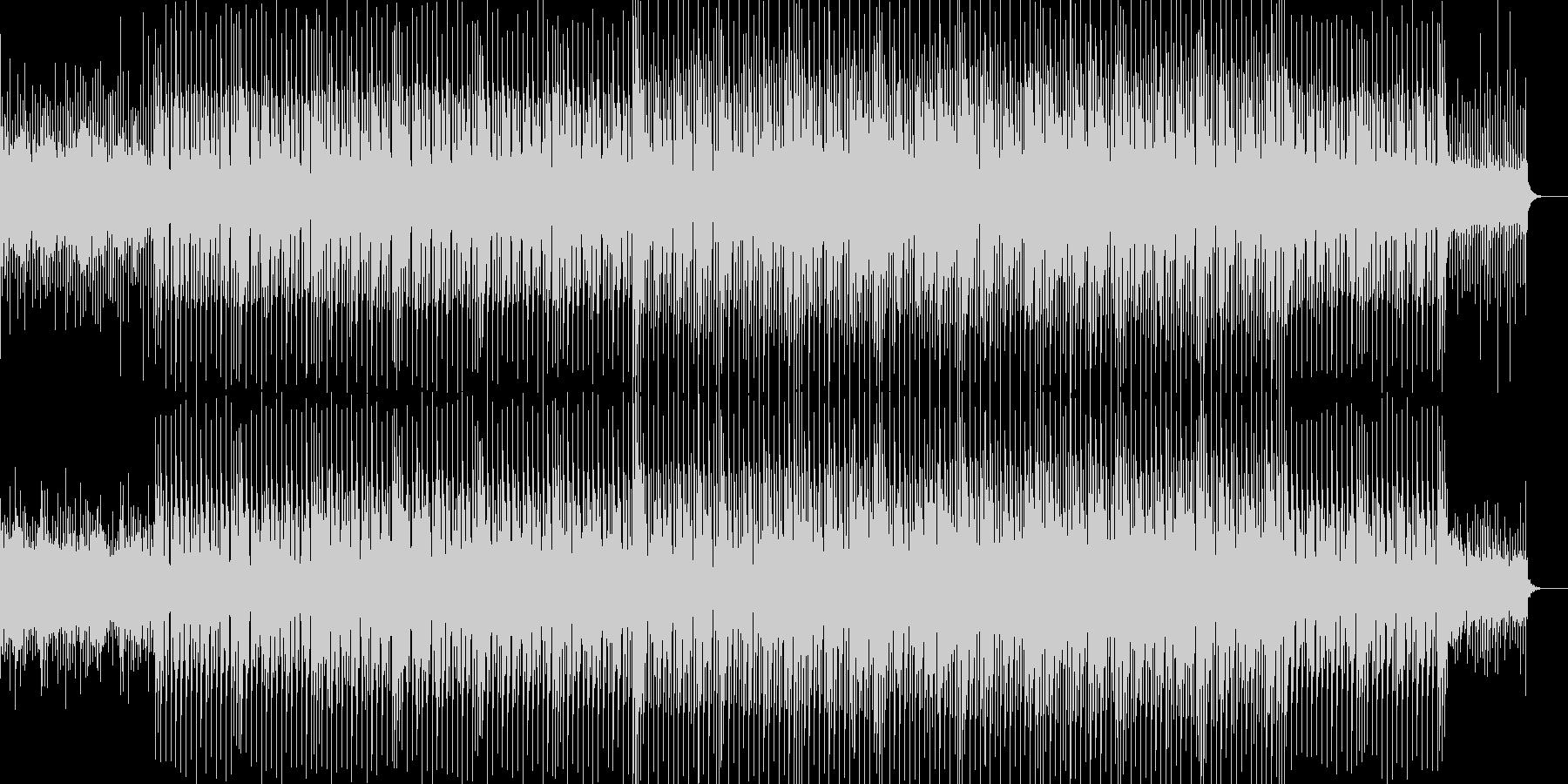 爽やかで明るく疾走感のあるBGMの未再生の波形