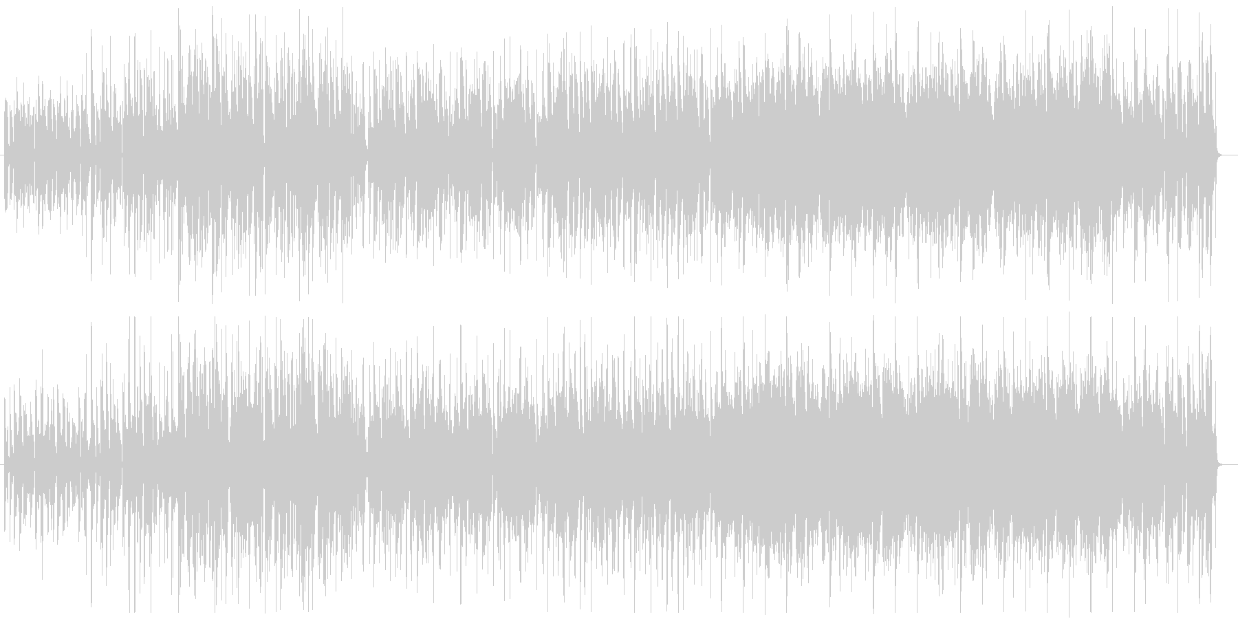 ファンキー・ダンサブル・ウキウキなR&Bの未再生の波形