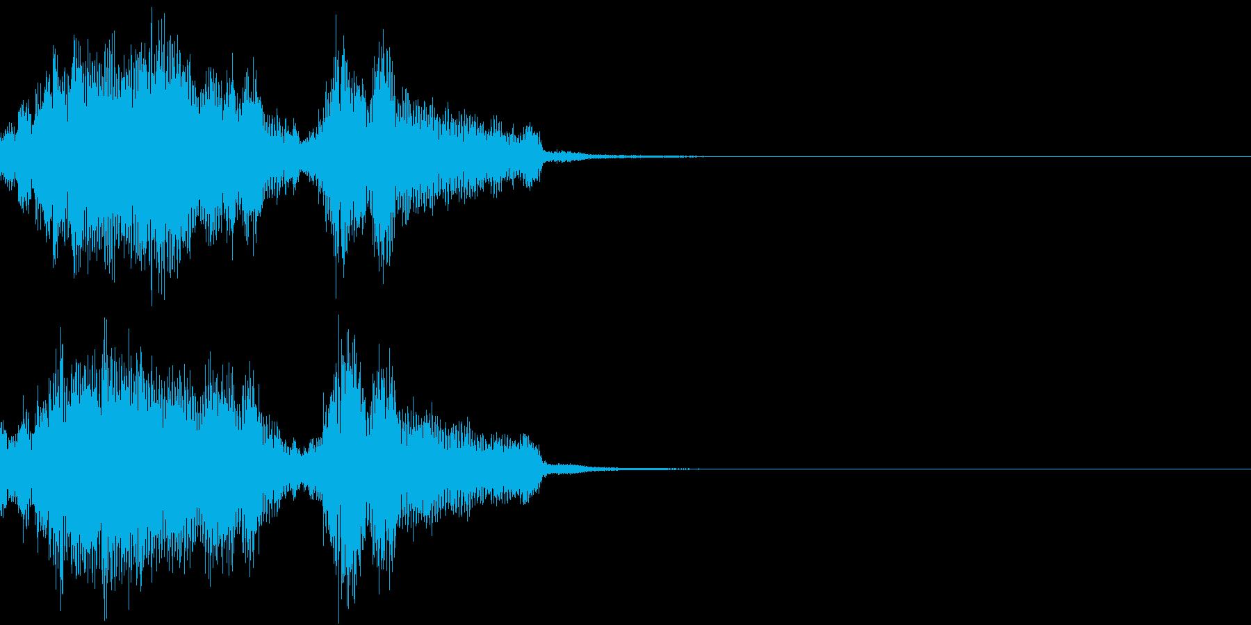 Monster 未知の生物の発する音声3の再生済みの波形