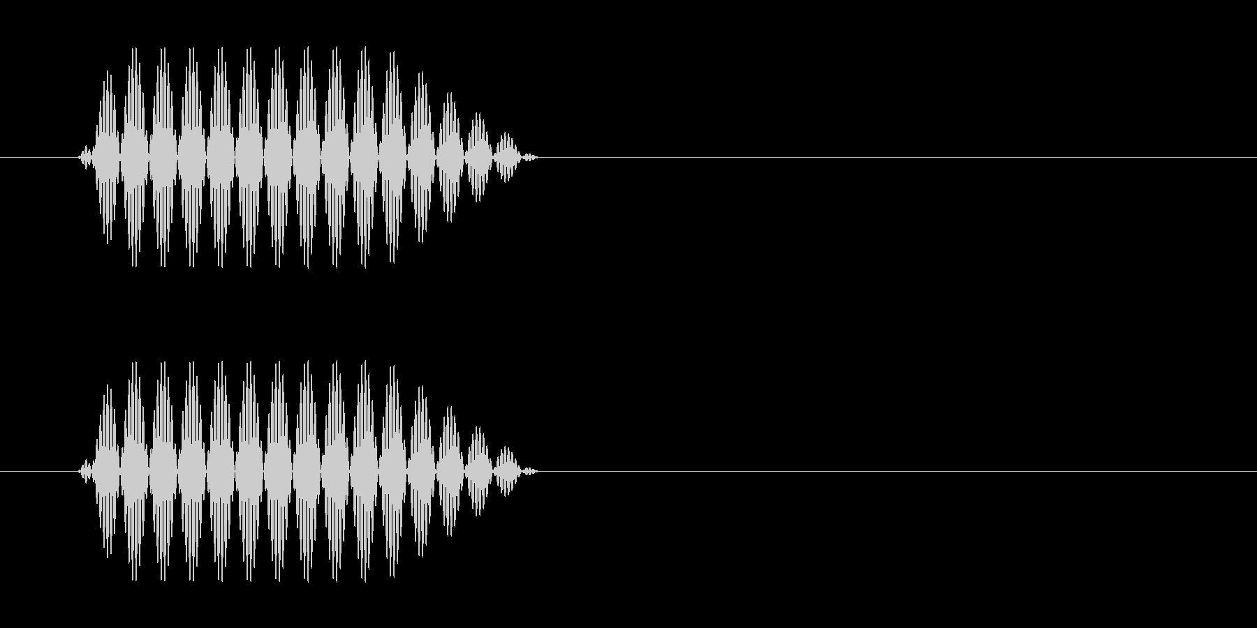 携帯電話でボタンを押すときのプッシュ音の未再生の波形