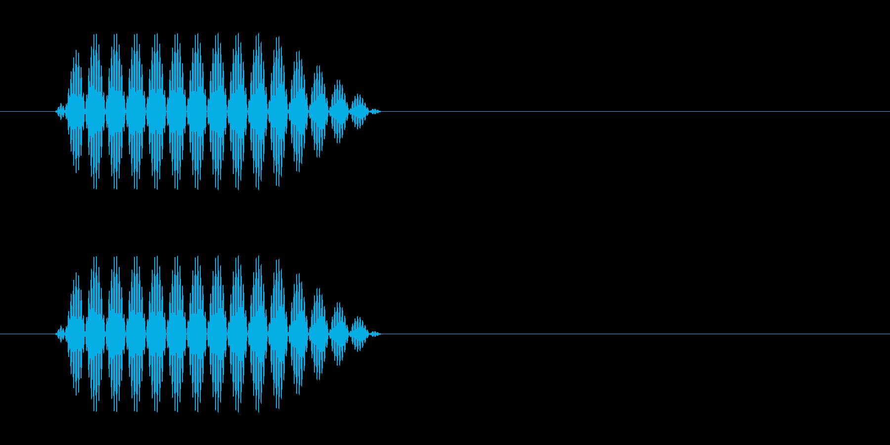 携帯電話でボタンを押すときのプッシュ音の再生済みの波形