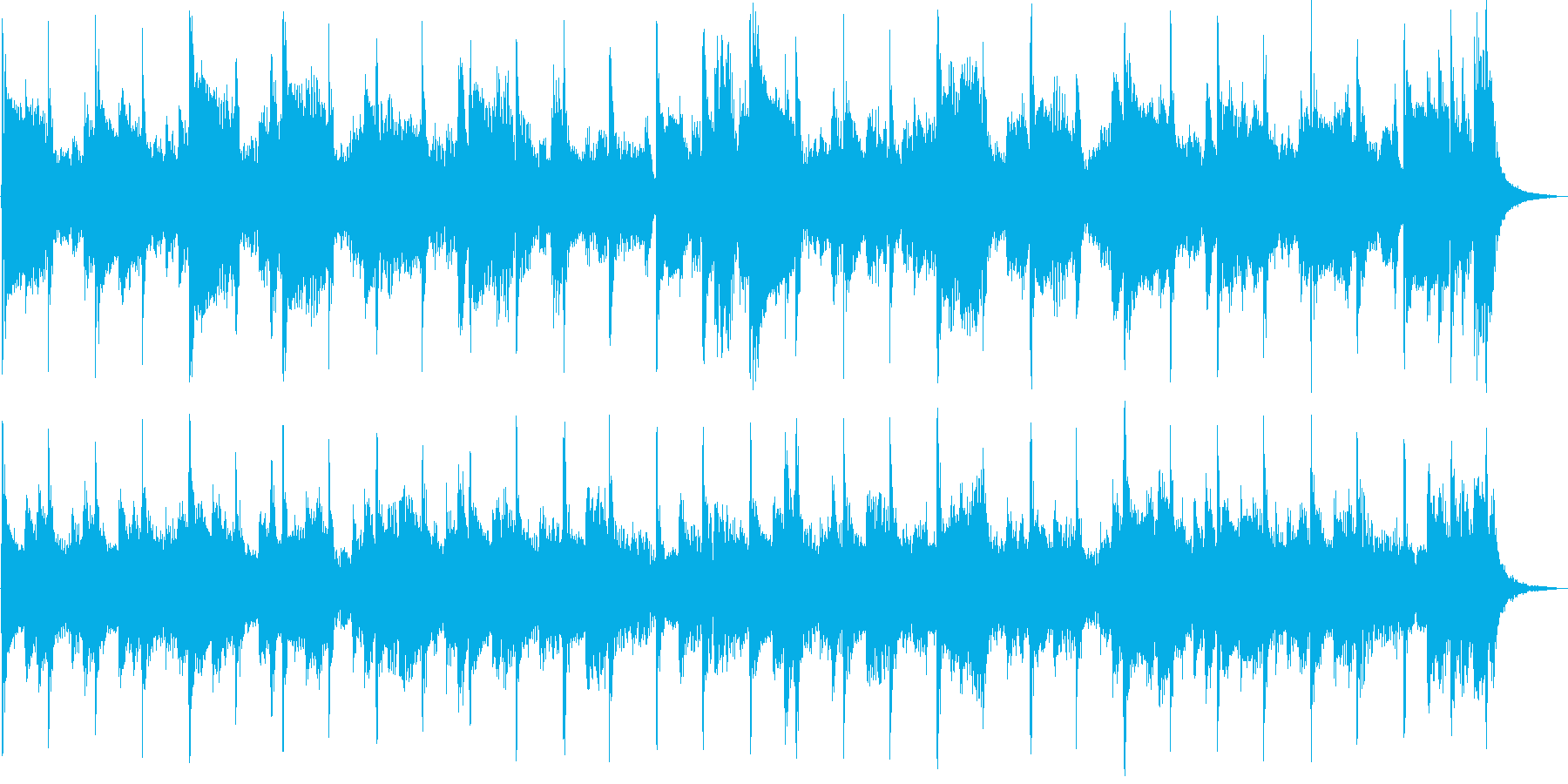 アジア風のメロディが印象的なジングルの再生済みの波形