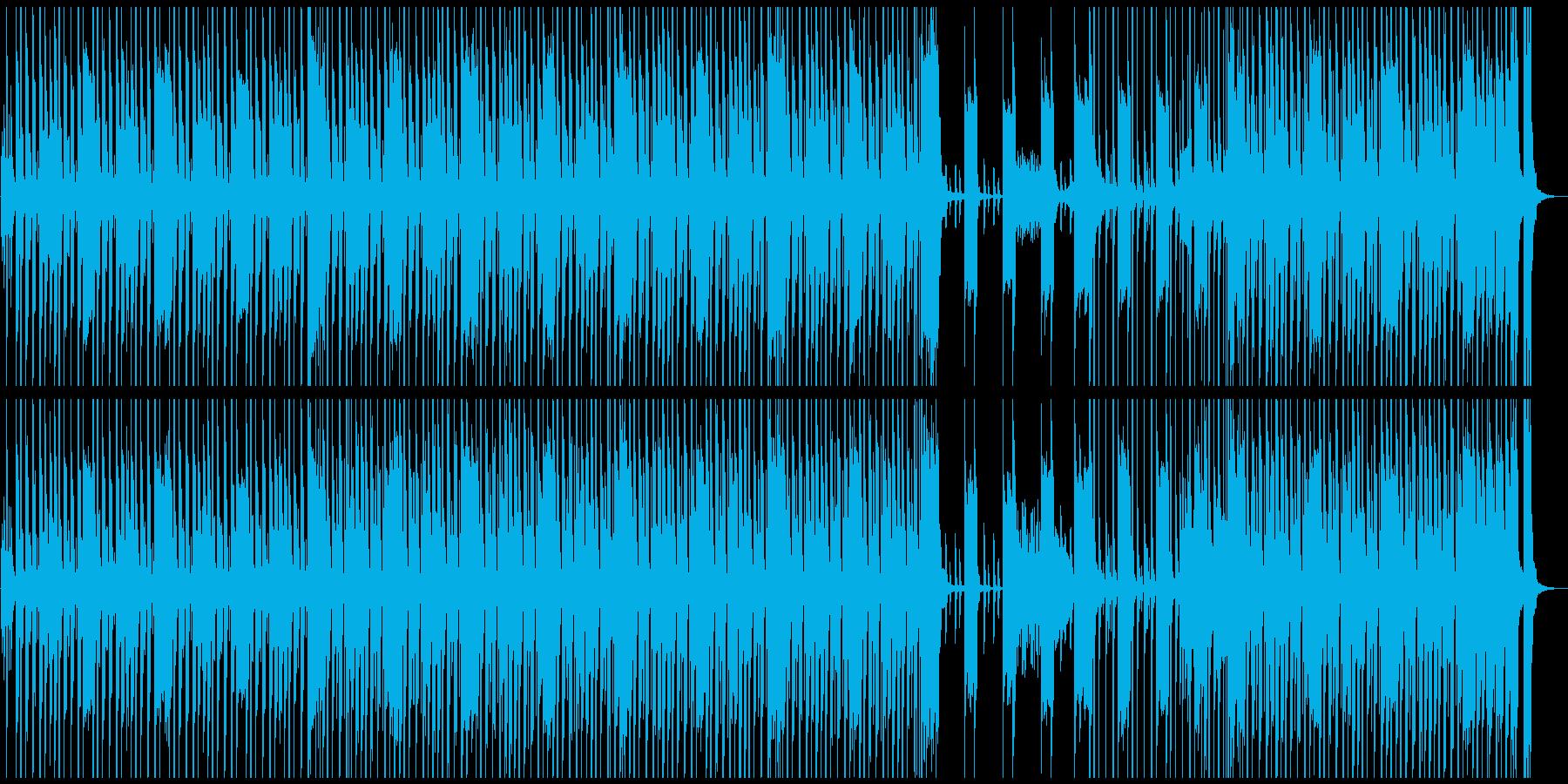 軽快・コミカルなBGMの再生済みの波形
