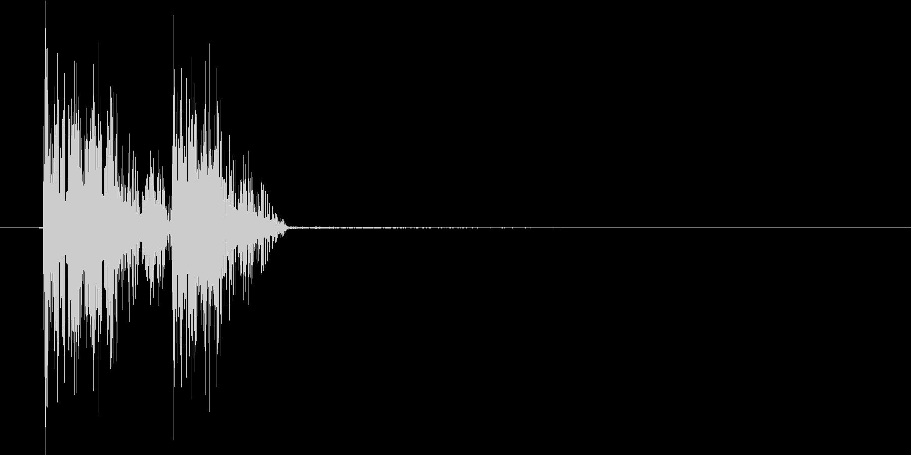 ポカッ(打撃、杖、コミカル、殴る)の未再生の波形