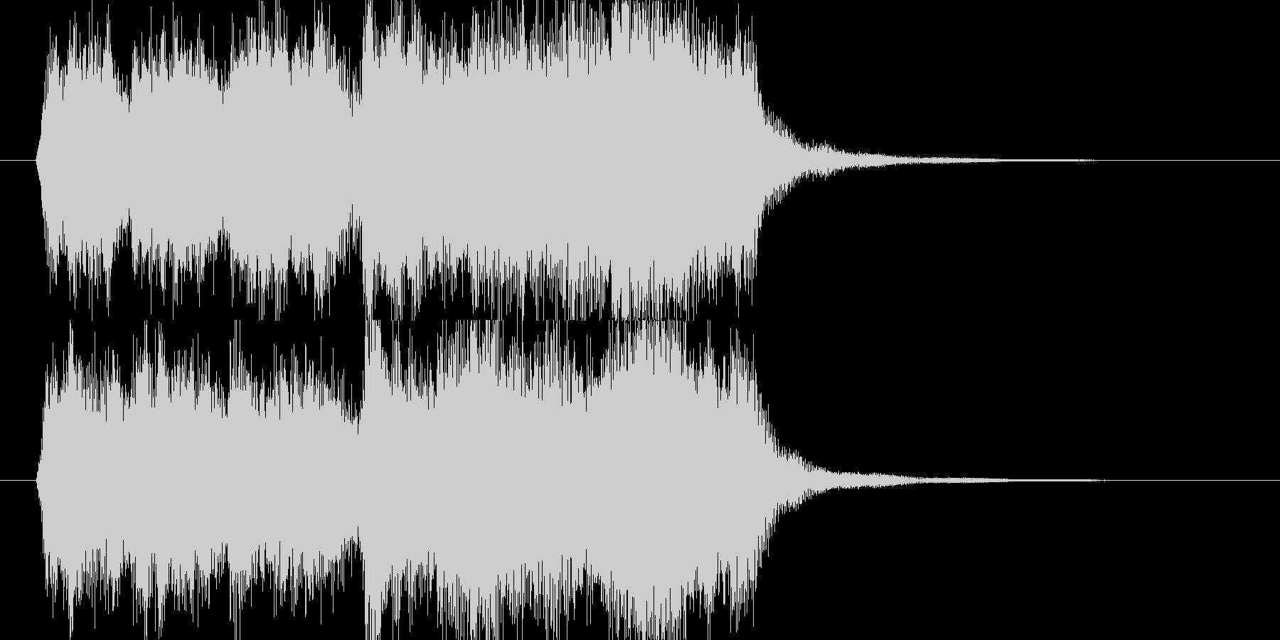 オーケストラの表彰・ゲームクリアジングルの未再生の波形