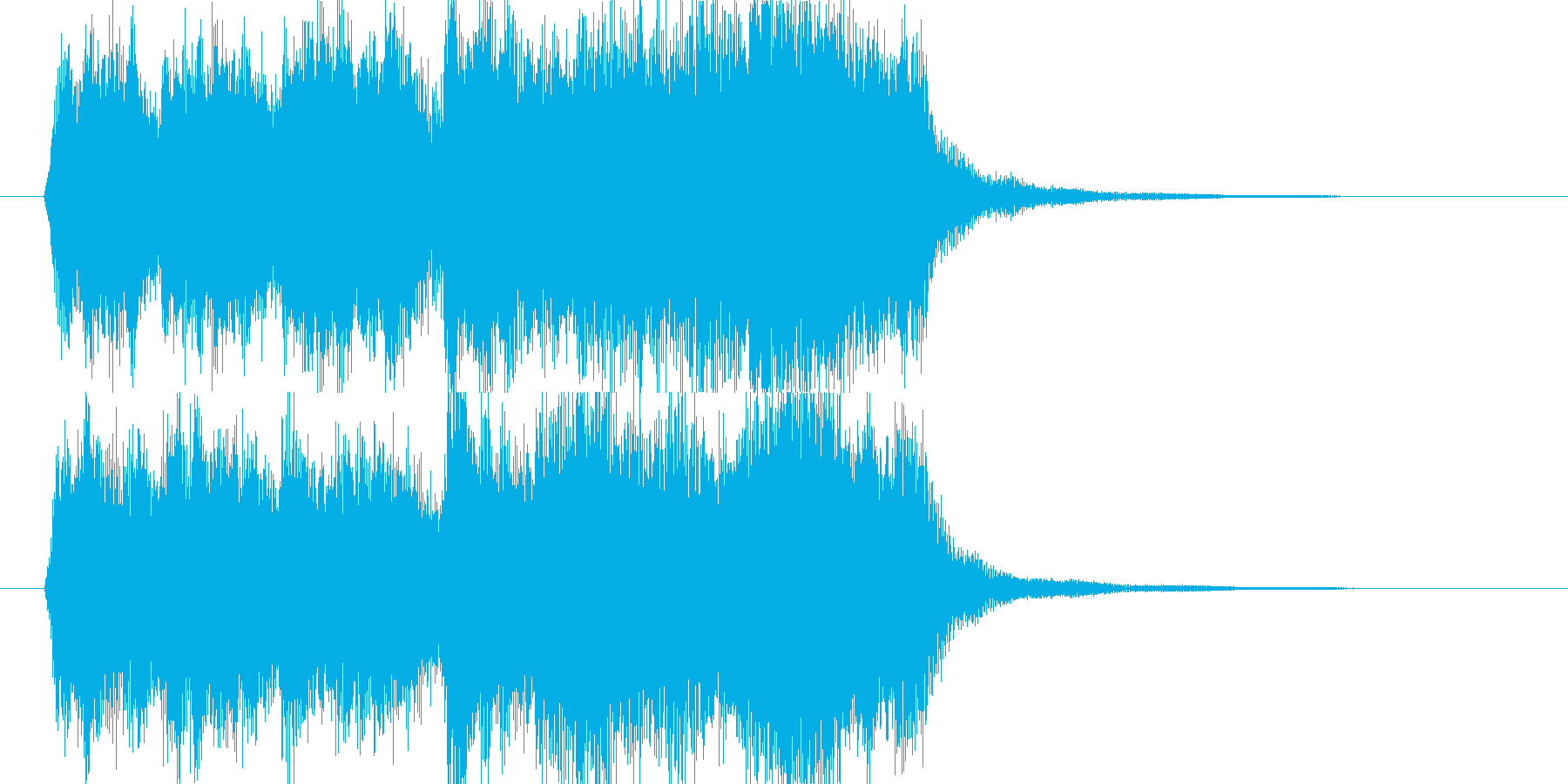 オーケストラの表彰・ゲームクリアジングルの再生済みの波形