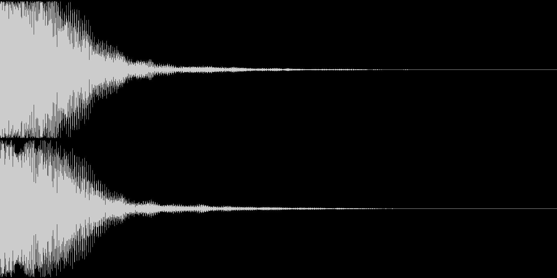 エラー音01(テロン)の未再生の波形