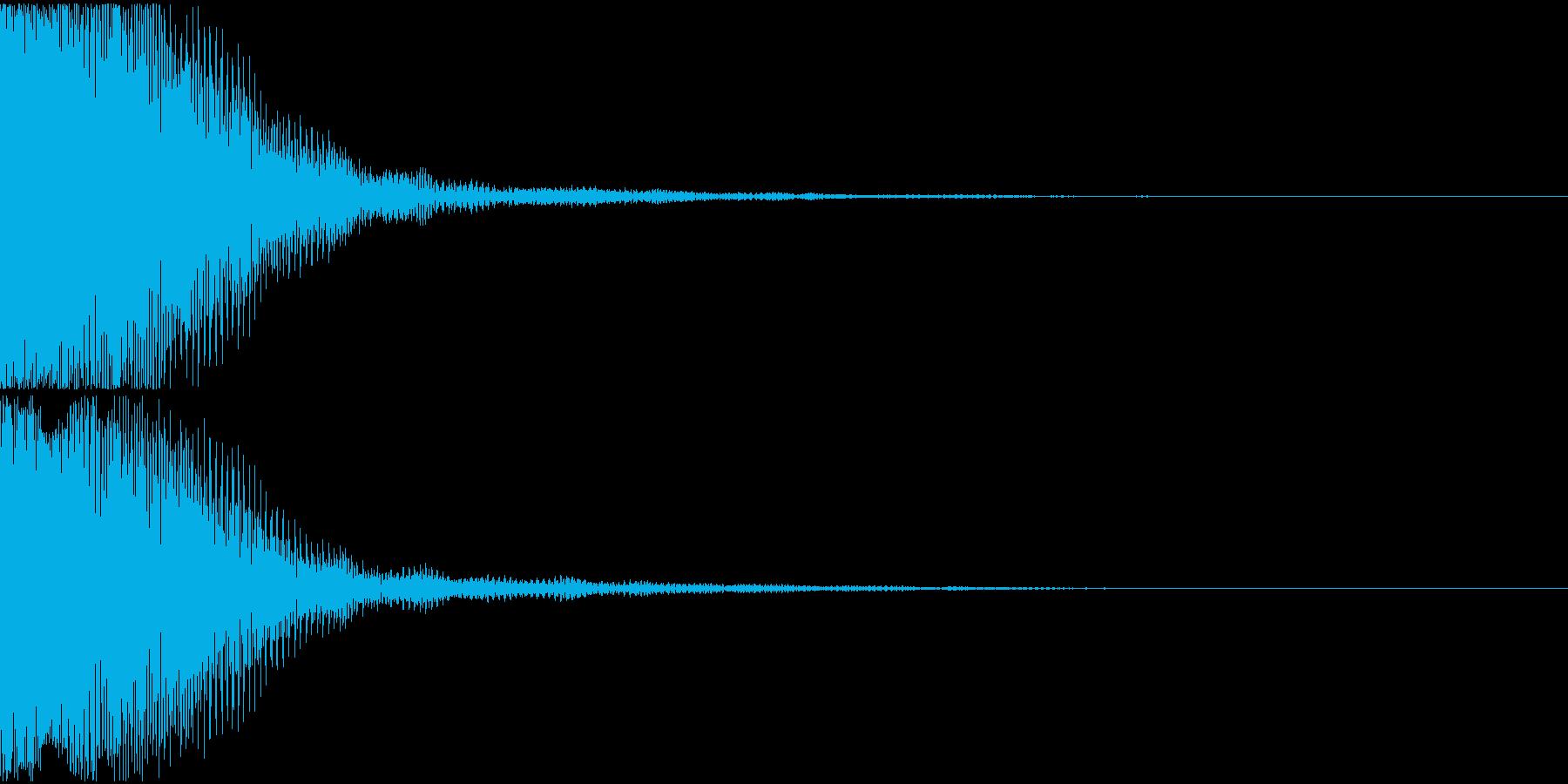 エラー音01(テロン)の再生済みの波形