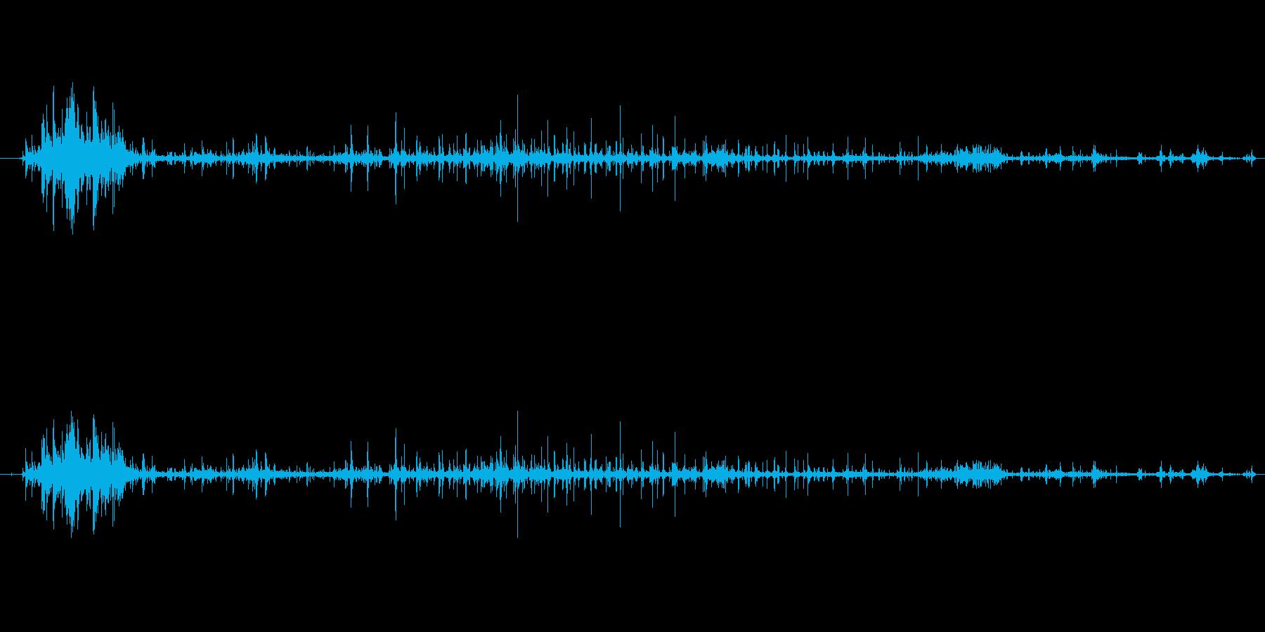 ガブッ、ぐちゅちゅの再生済みの波形