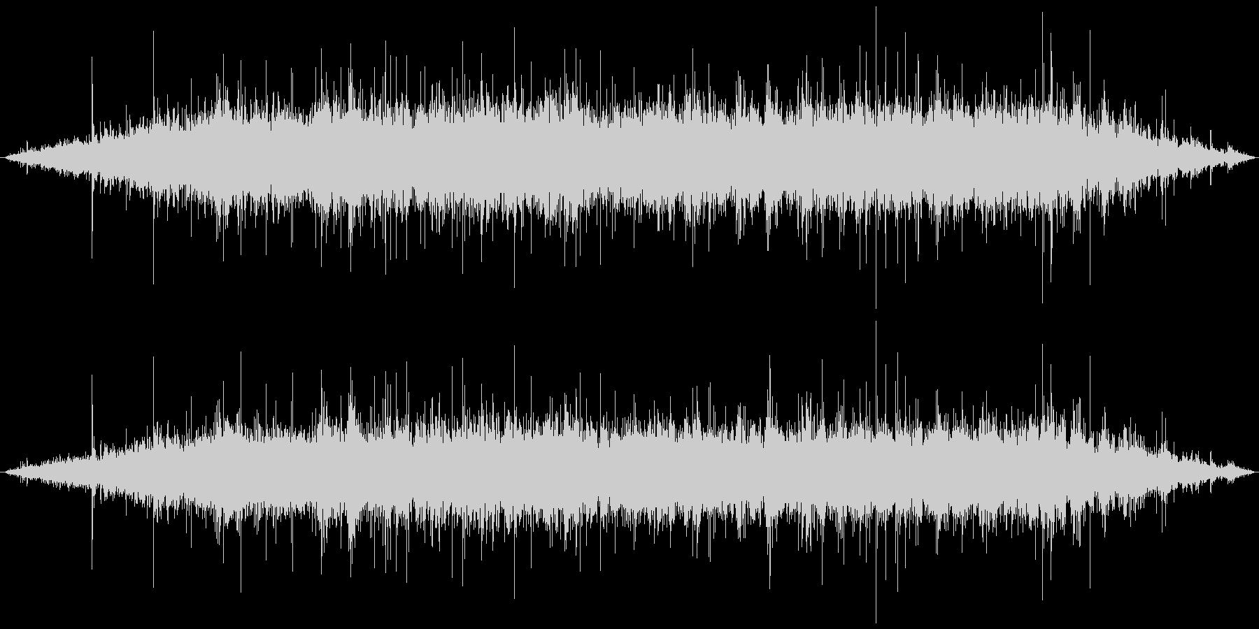 ジュゥゥゥ+パチパチ(焼く)の未再生の波形