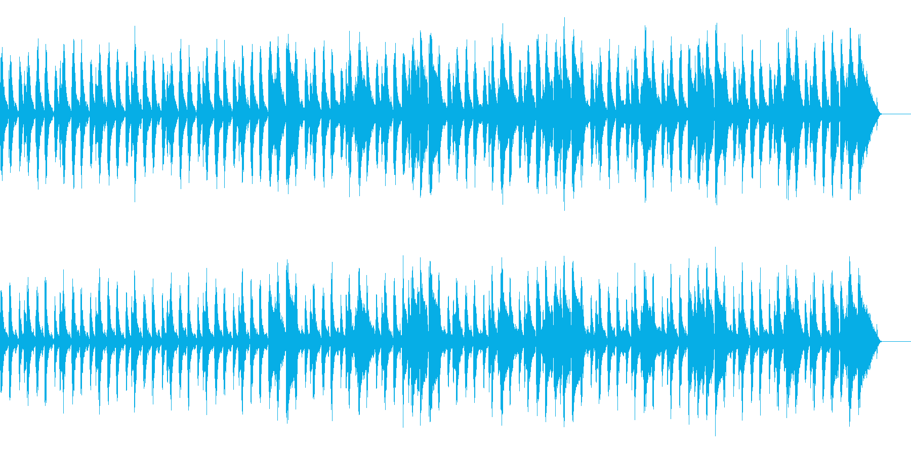 リズミカルでかわいいCMの再生済みの波形