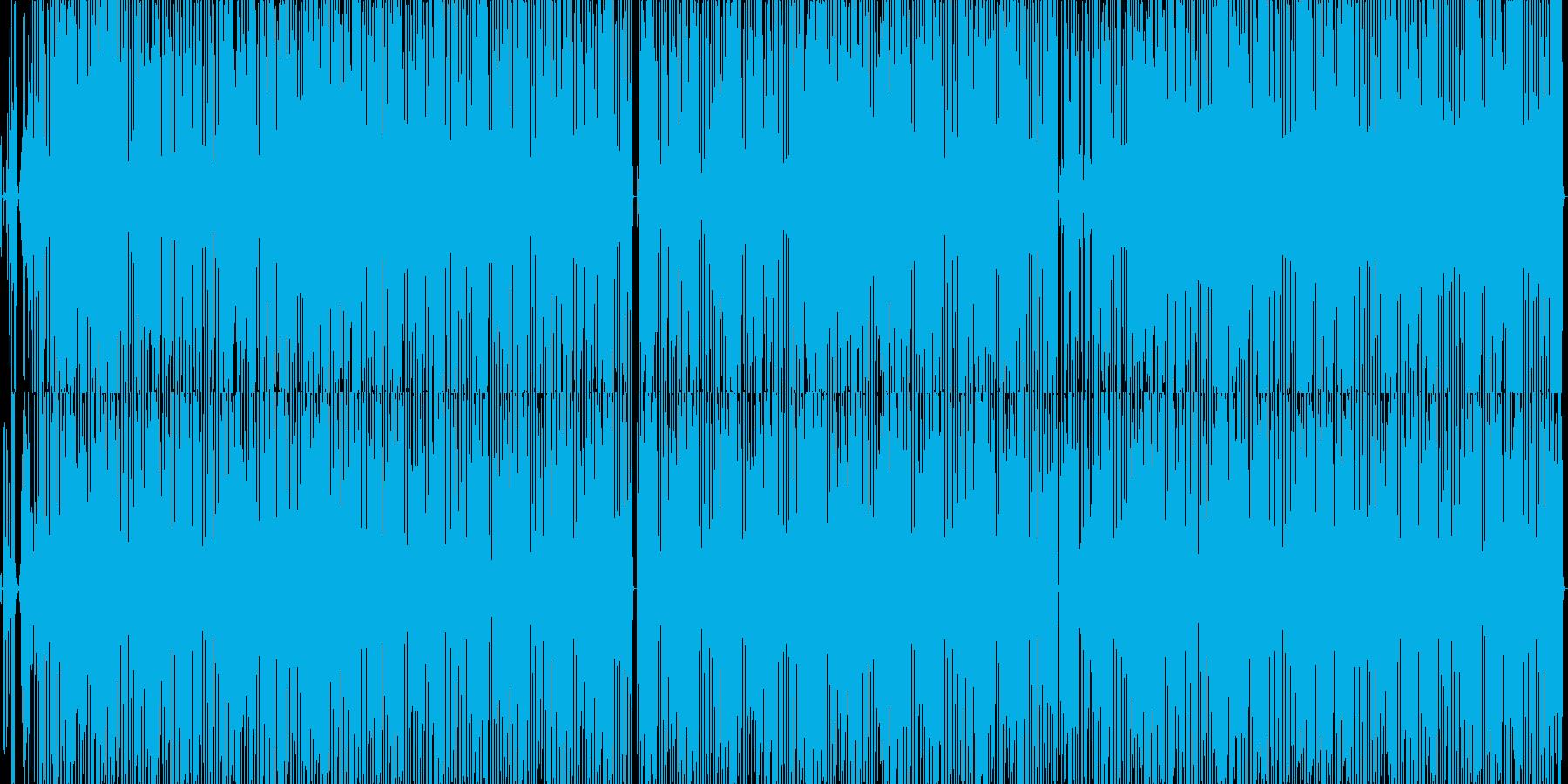 明るいヒップホップ風のポップBGMの再生済みの波形