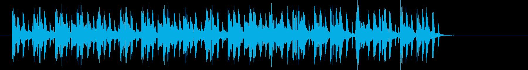 軽快なテンポのテクノポップスの再生済みの波形