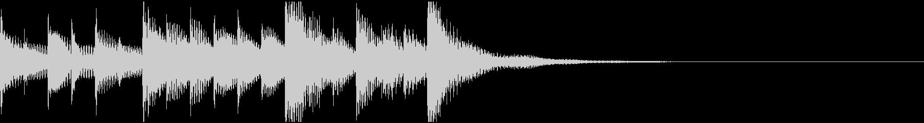 マリンバの明るいジングル・着信音の未再生の波形