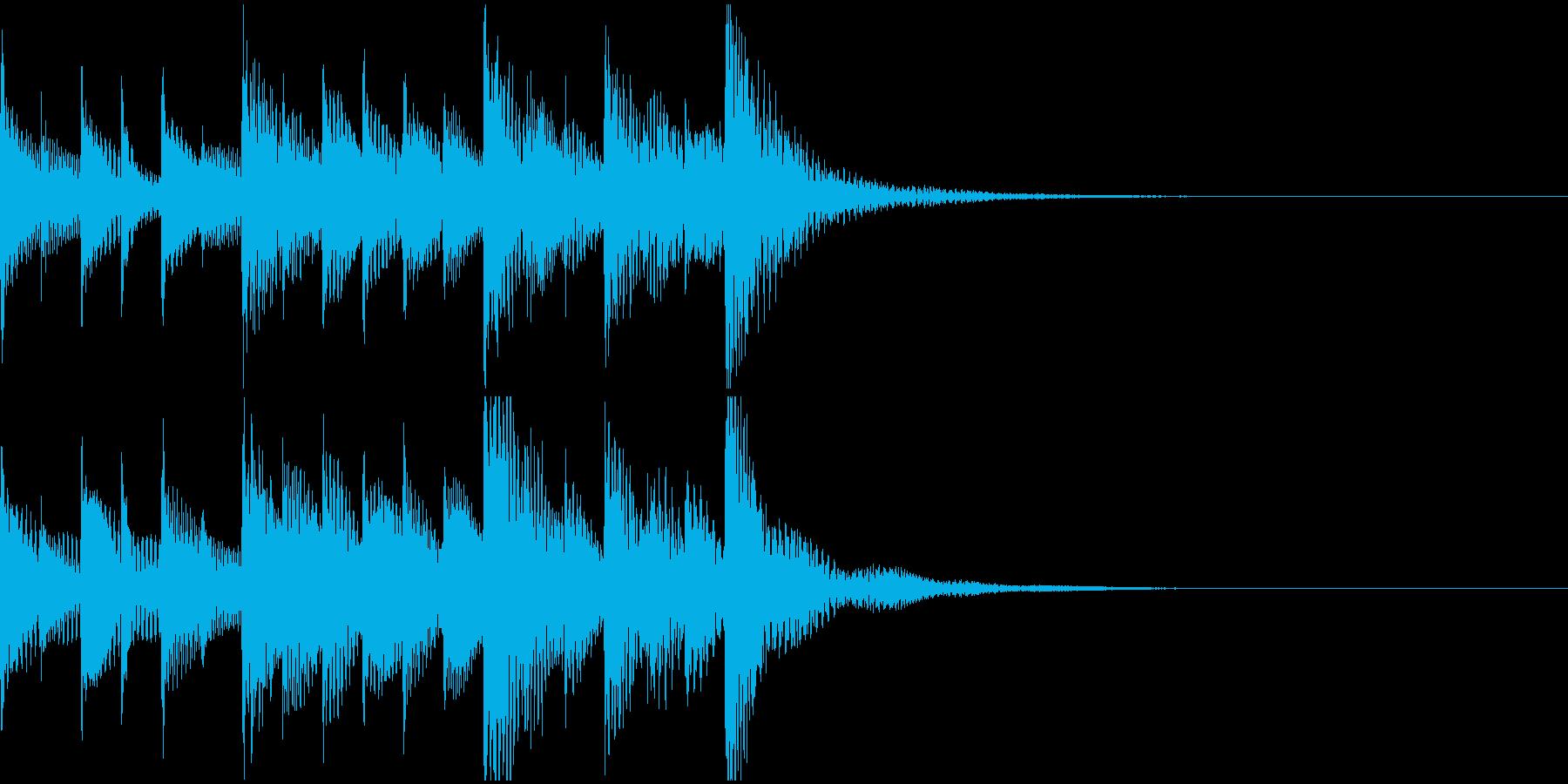 マリンバの明るいジングル・着信音の再生済みの波形