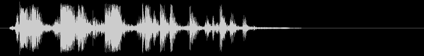 ガチャン、という何かが動く効果音の未再生の波形