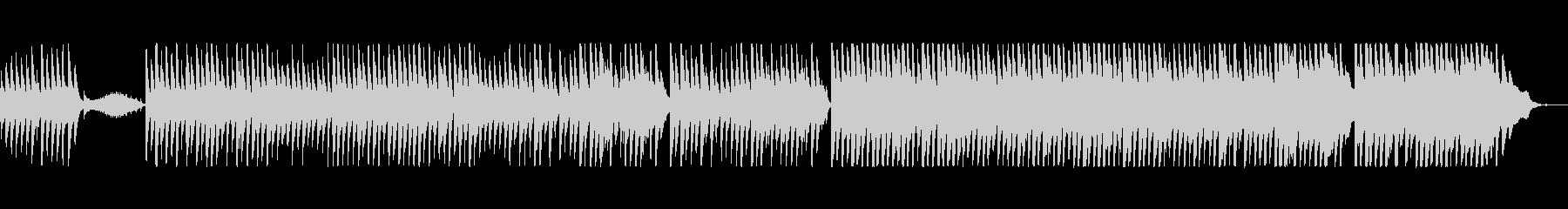 切なく穏やかなピアノ曲の未再生の波形