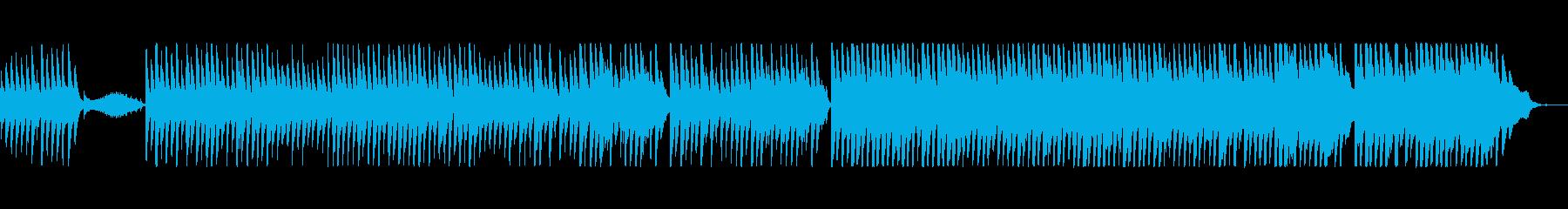 切なく穏やかなピアノ曲の再生済みの波形