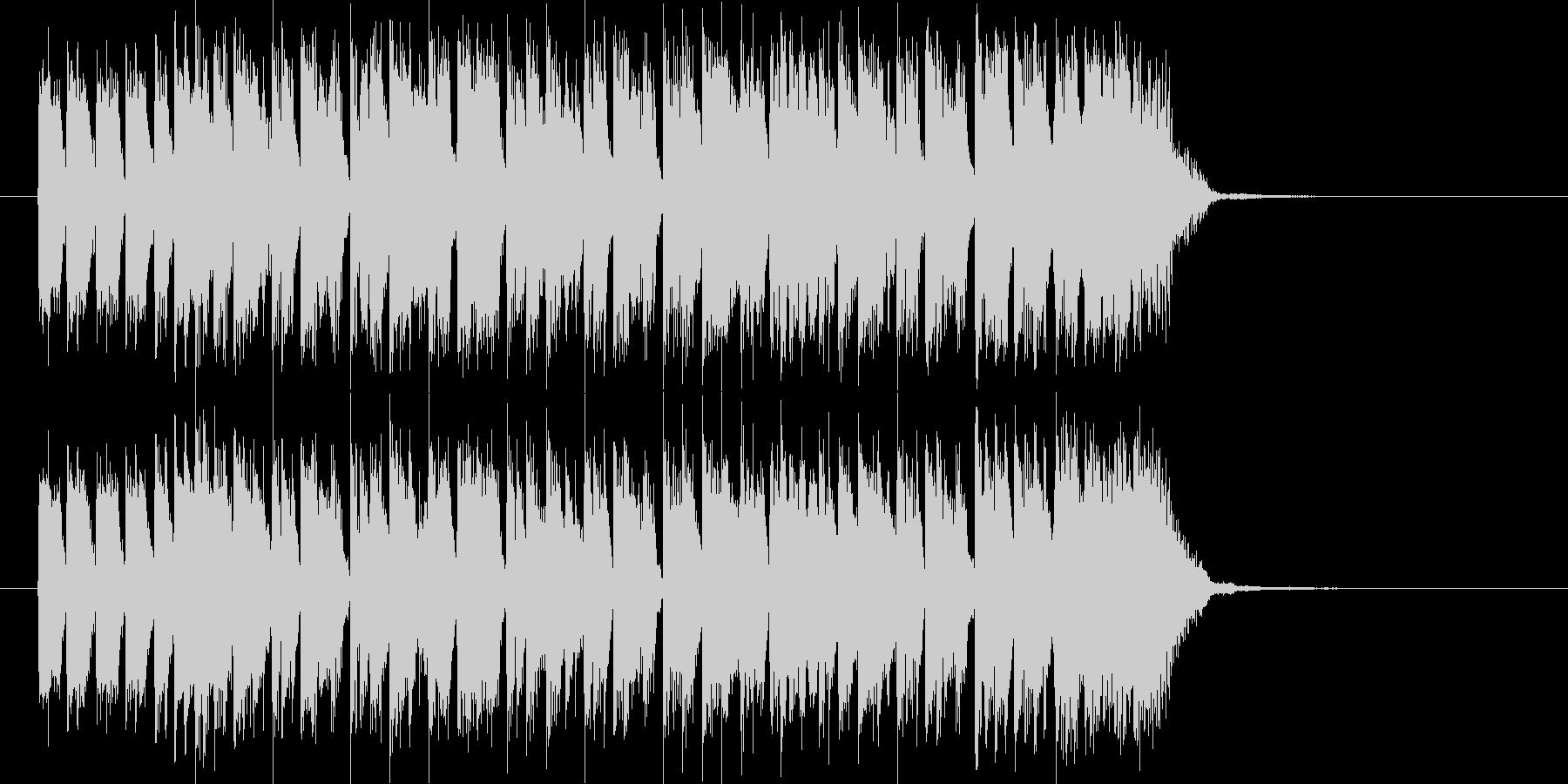 ディスコ調のテクノポップスのジングルの未再生の波形
