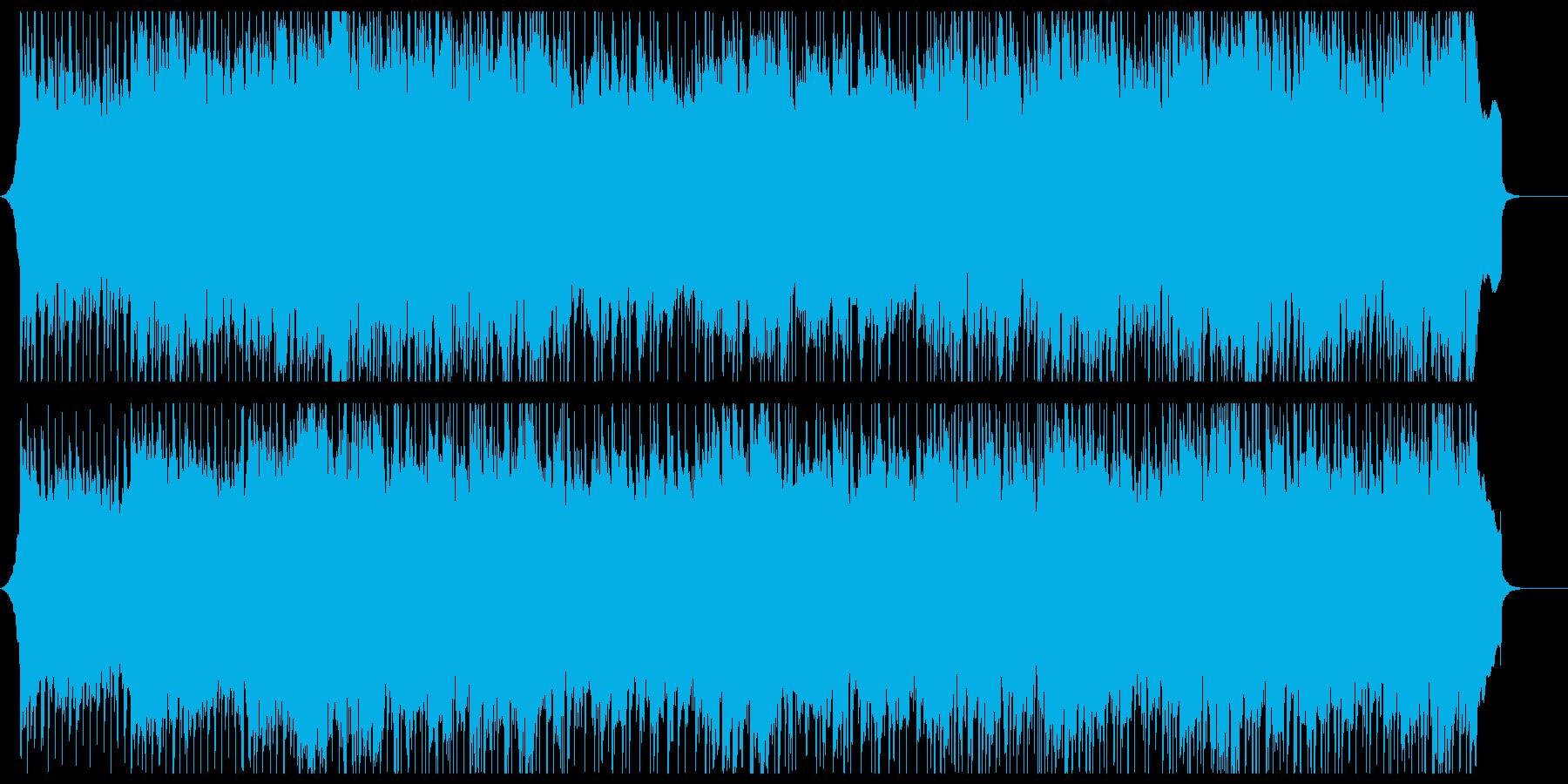 熱いロックの再生済みの波形