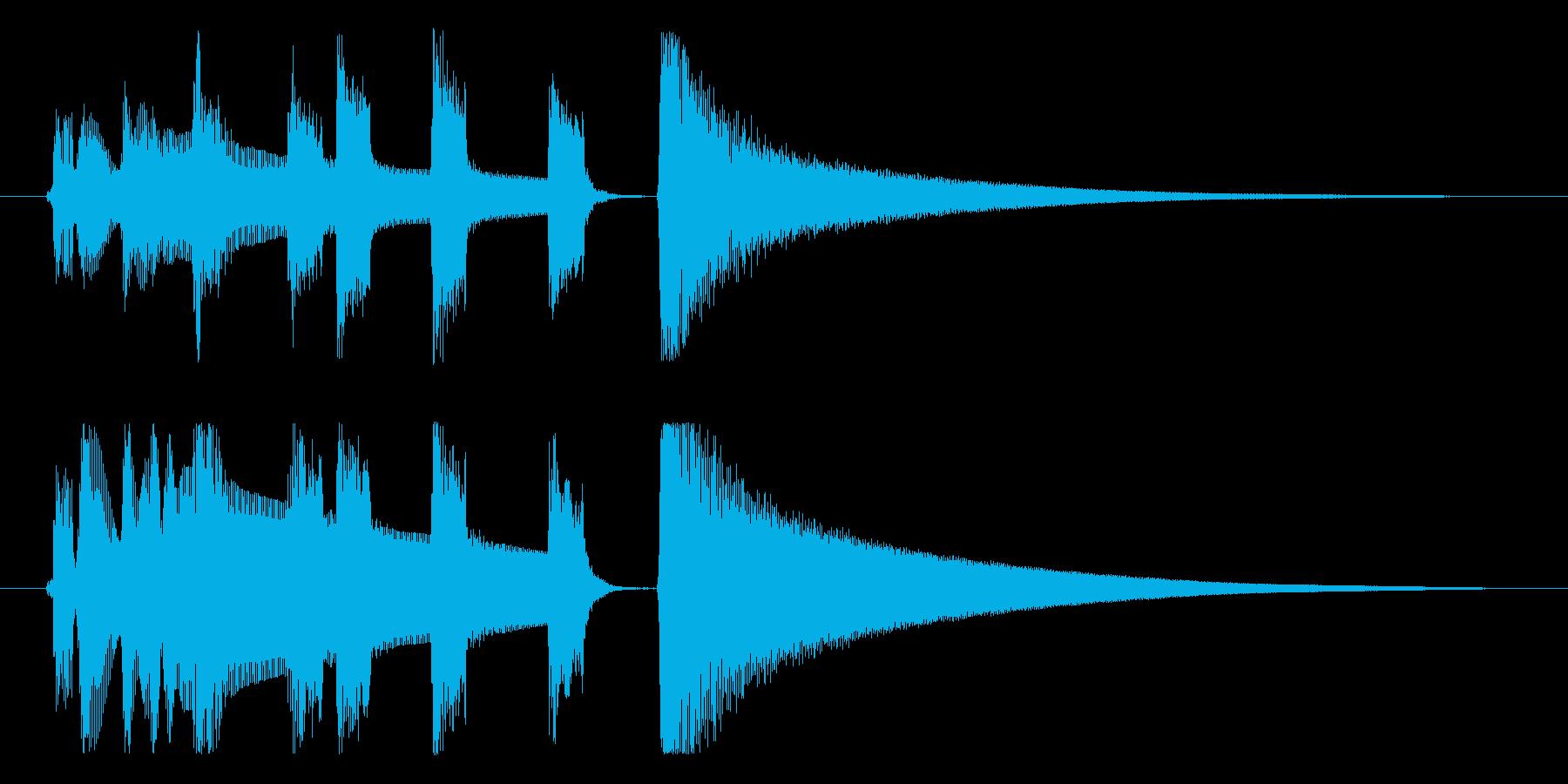 【プライベートタイム1】の再生済みの波形