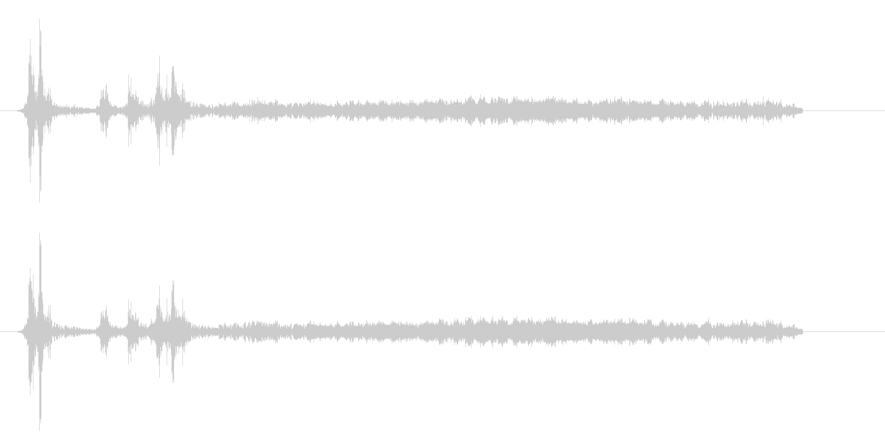 [カメラ] シャッターを切る効果音02!の未再生の波形
