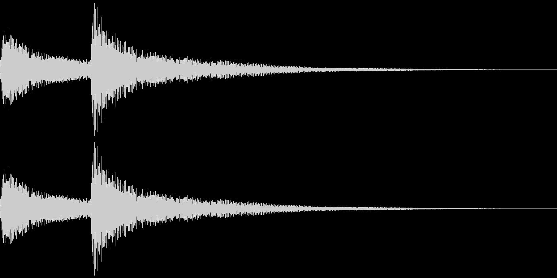 呼び鈴をイメージしたベル系の効果音の未再生の波形