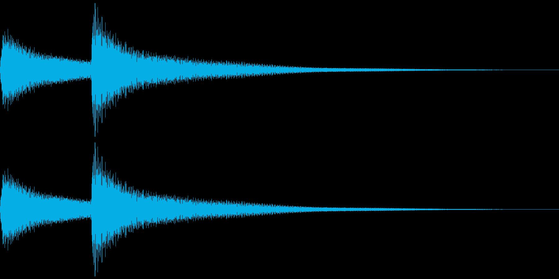 呼び鈴をイメージしたベル系の効果音の再生済みの波形