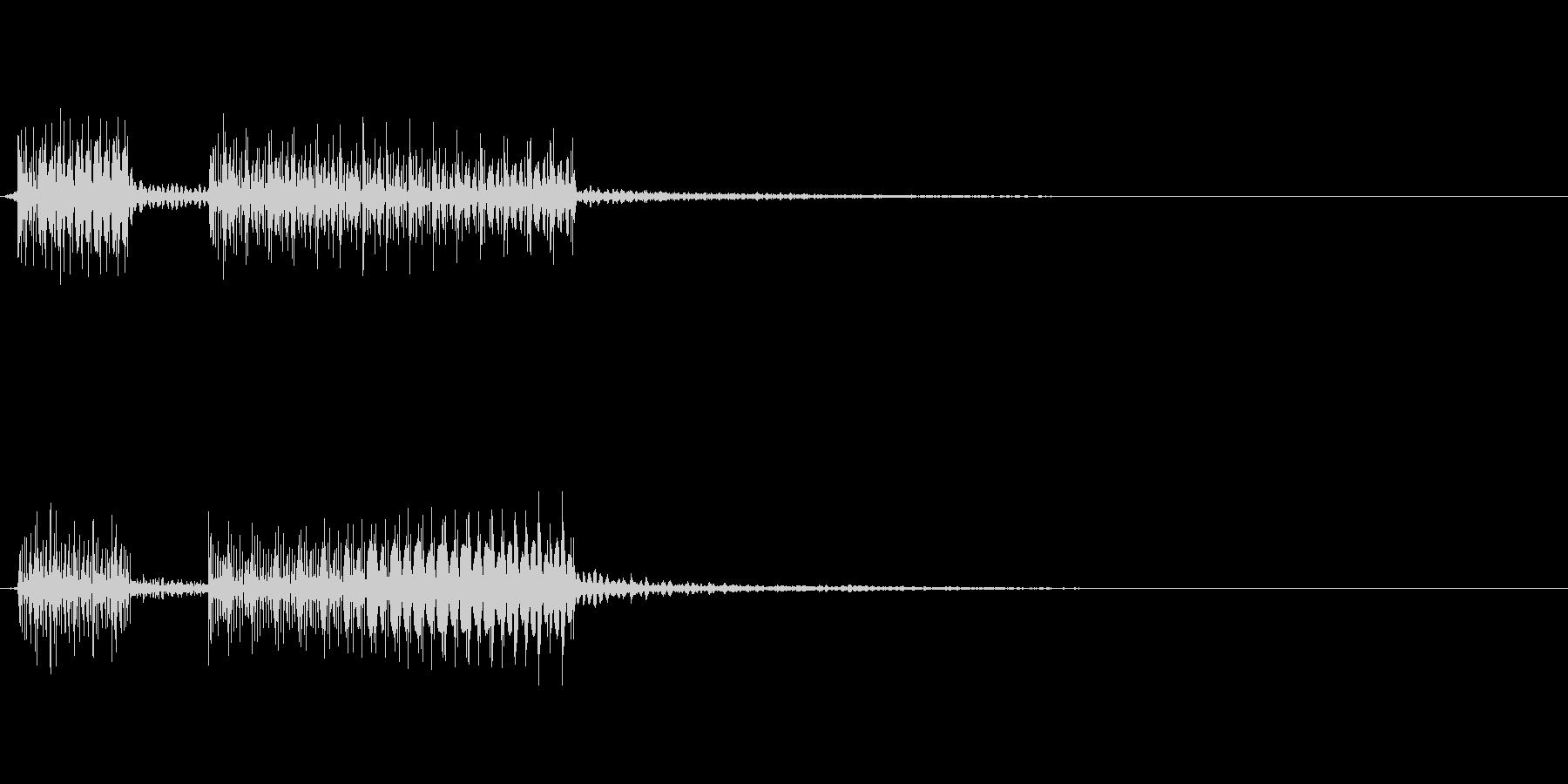 ブッブー!!というクイズの不正解、はず…の未再生の波形
