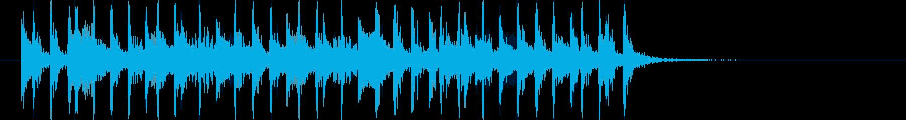 ミディアムテンポの懐かしいポップスの再生済みの波形