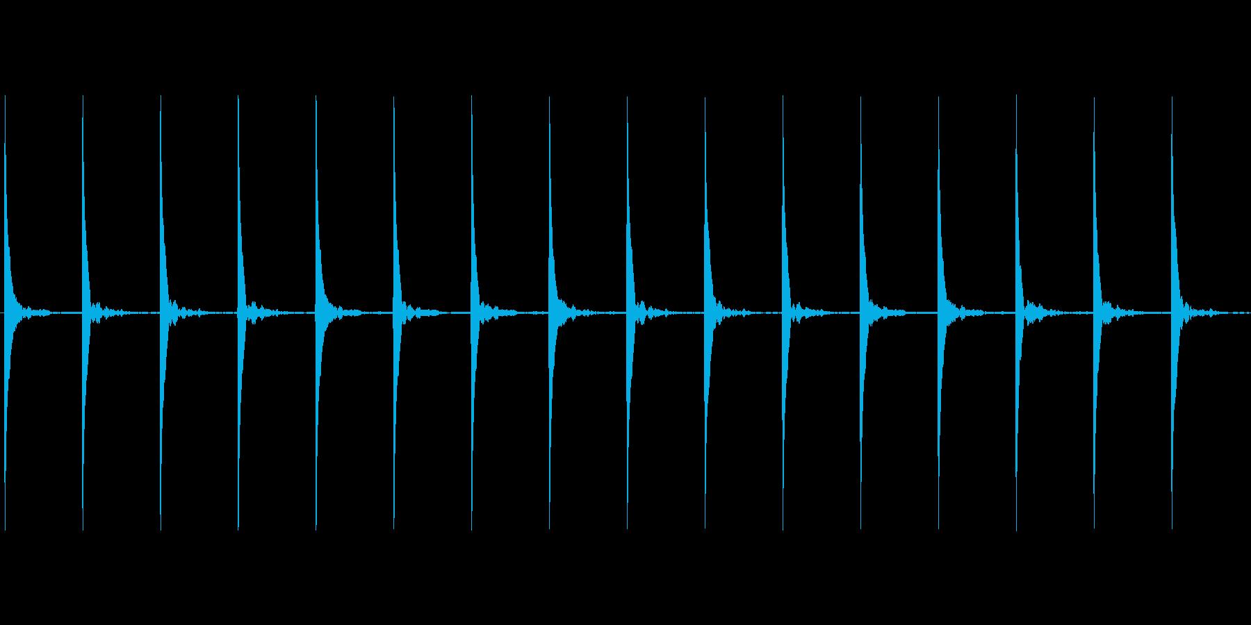 ポクポク...(木魚、お寺)の再生済みの波形