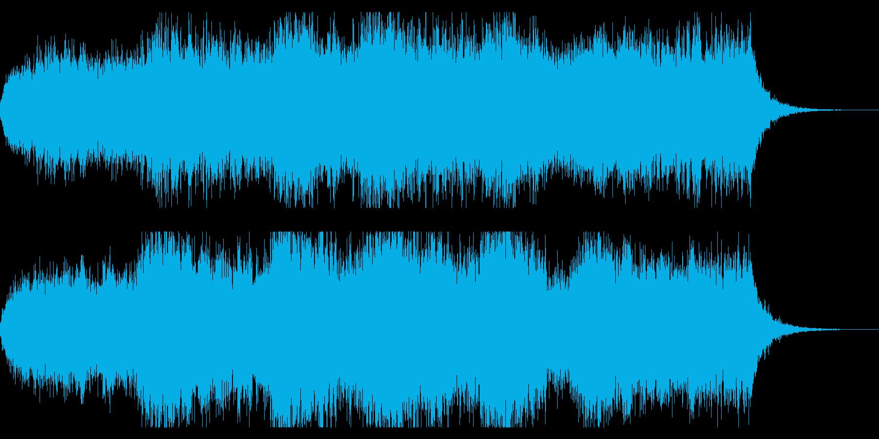 ダークファンタジーなオープニングBGMの再生済みの波形