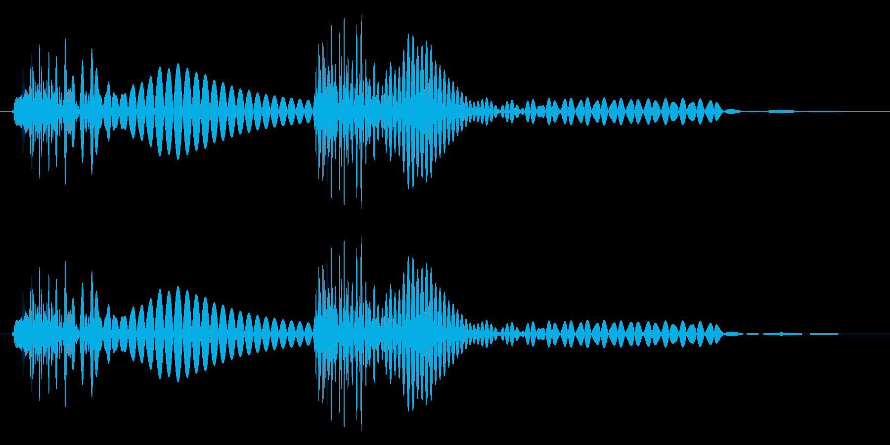 ポコ(叩く・ボタン・クリック)の再生済みの波形