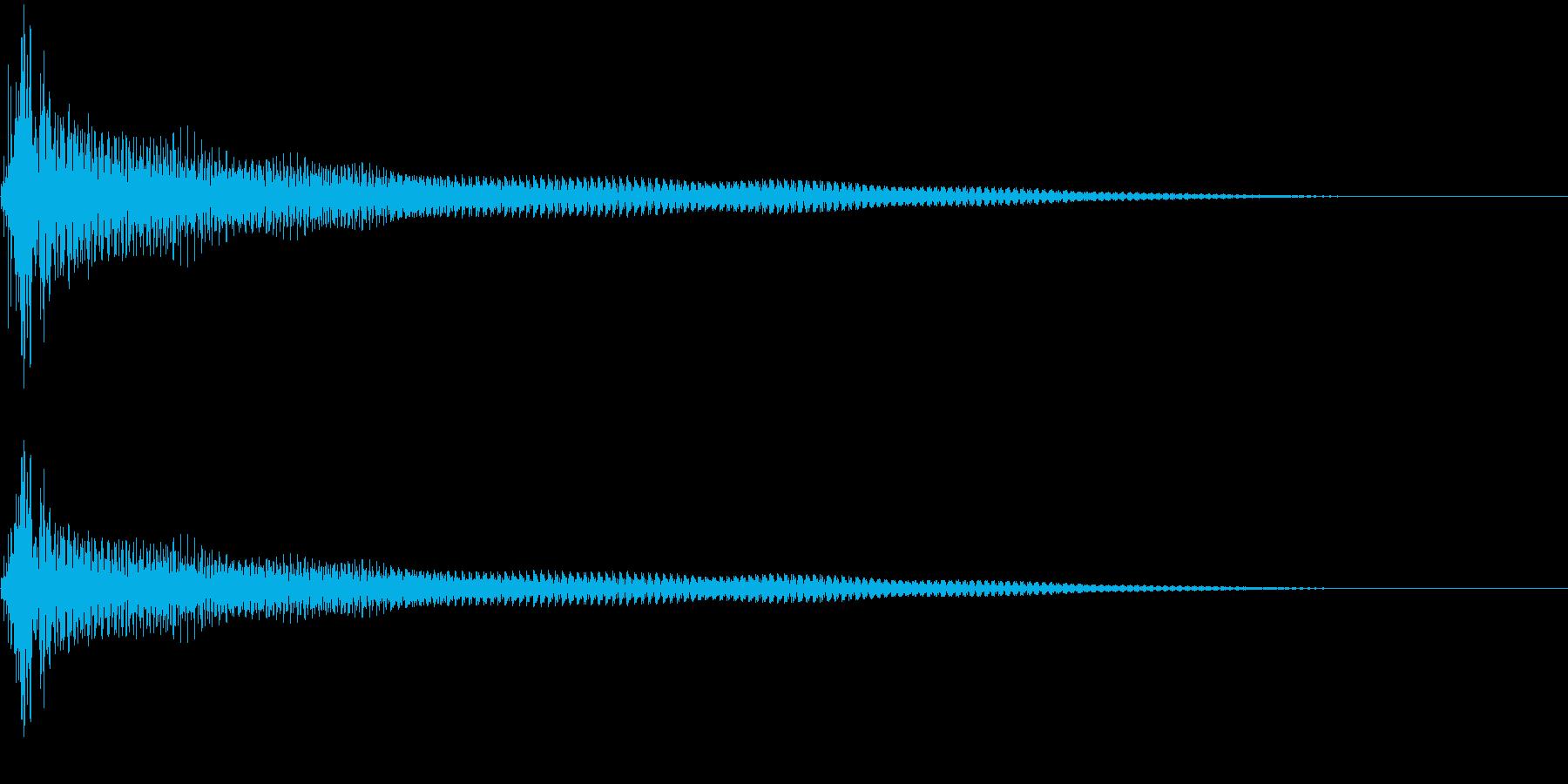 アコースティックギターの音3の再生済みの波形