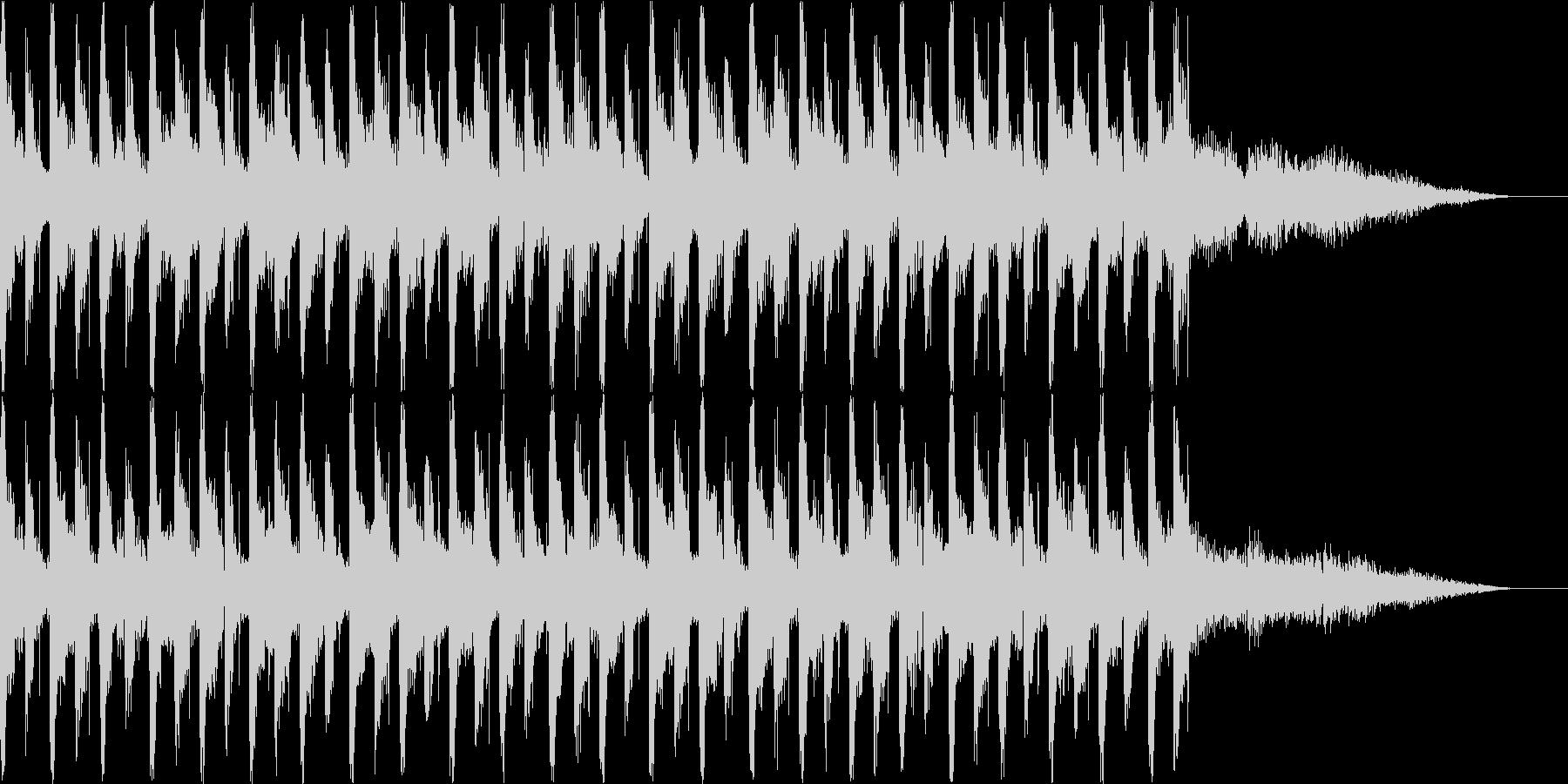 おしゃれでハウスよりのBGMの未再生の波形