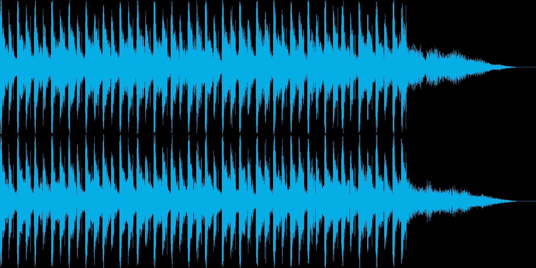 おしゃれでハウスよりのBGMの再生済みの波形