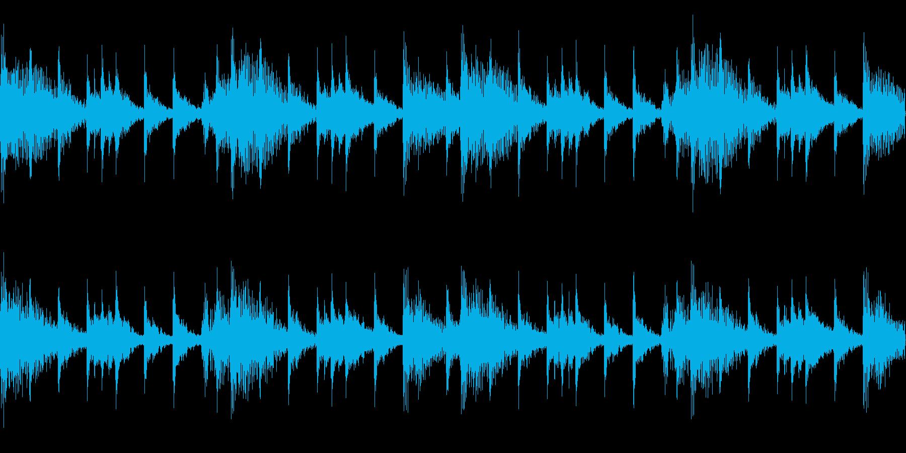 マーチングバンドの行進の再生済みの波形
