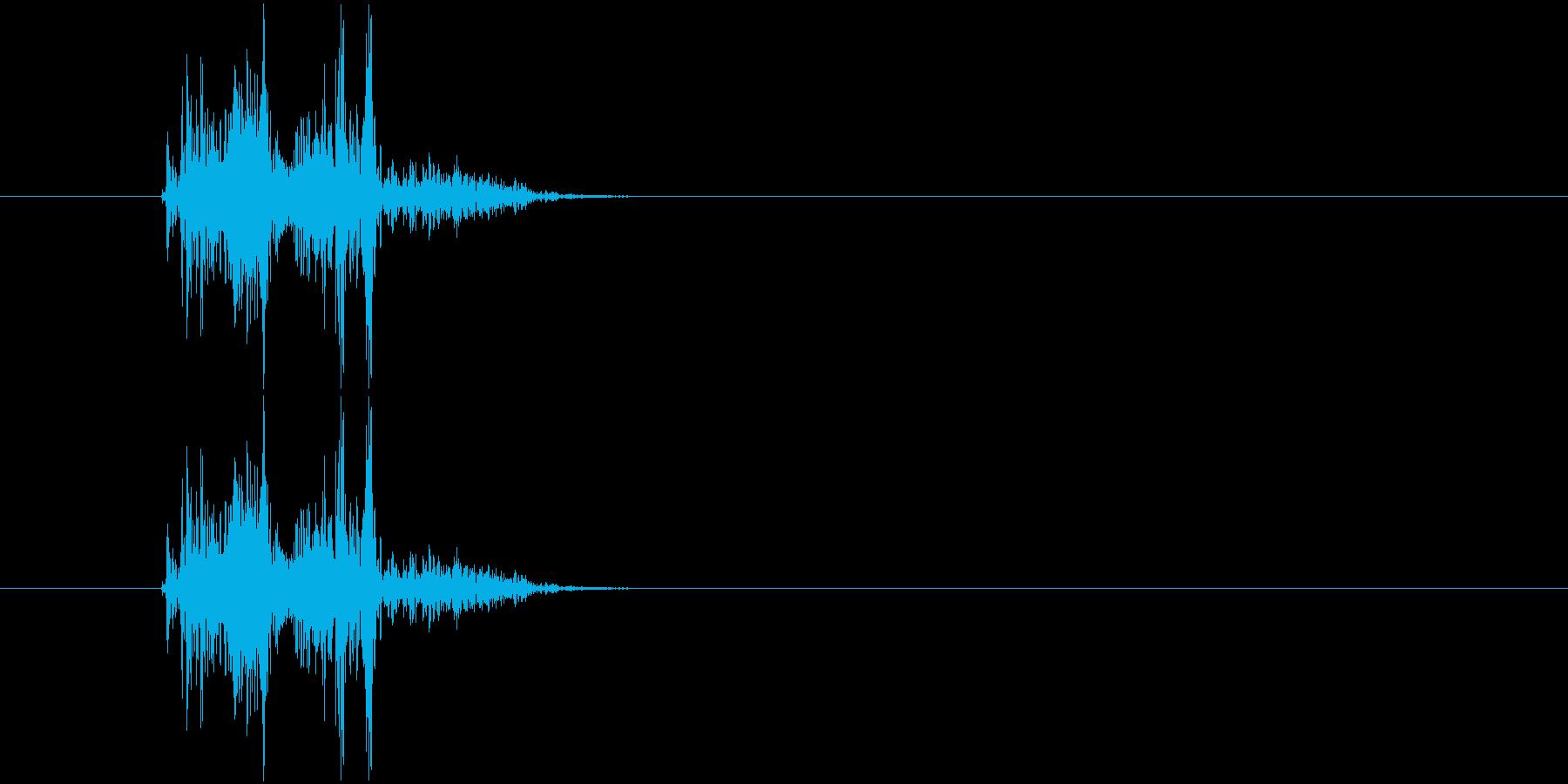 バタン(衝撃、打撃音)の再生済みの波形