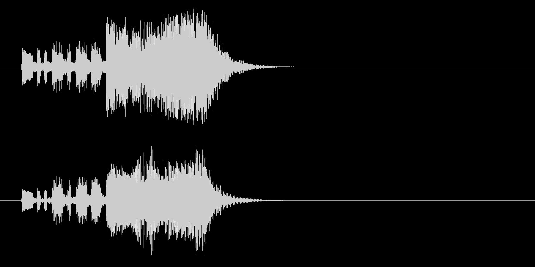 オーケストラ・ファンファーレ風ジングルの未再生の波形