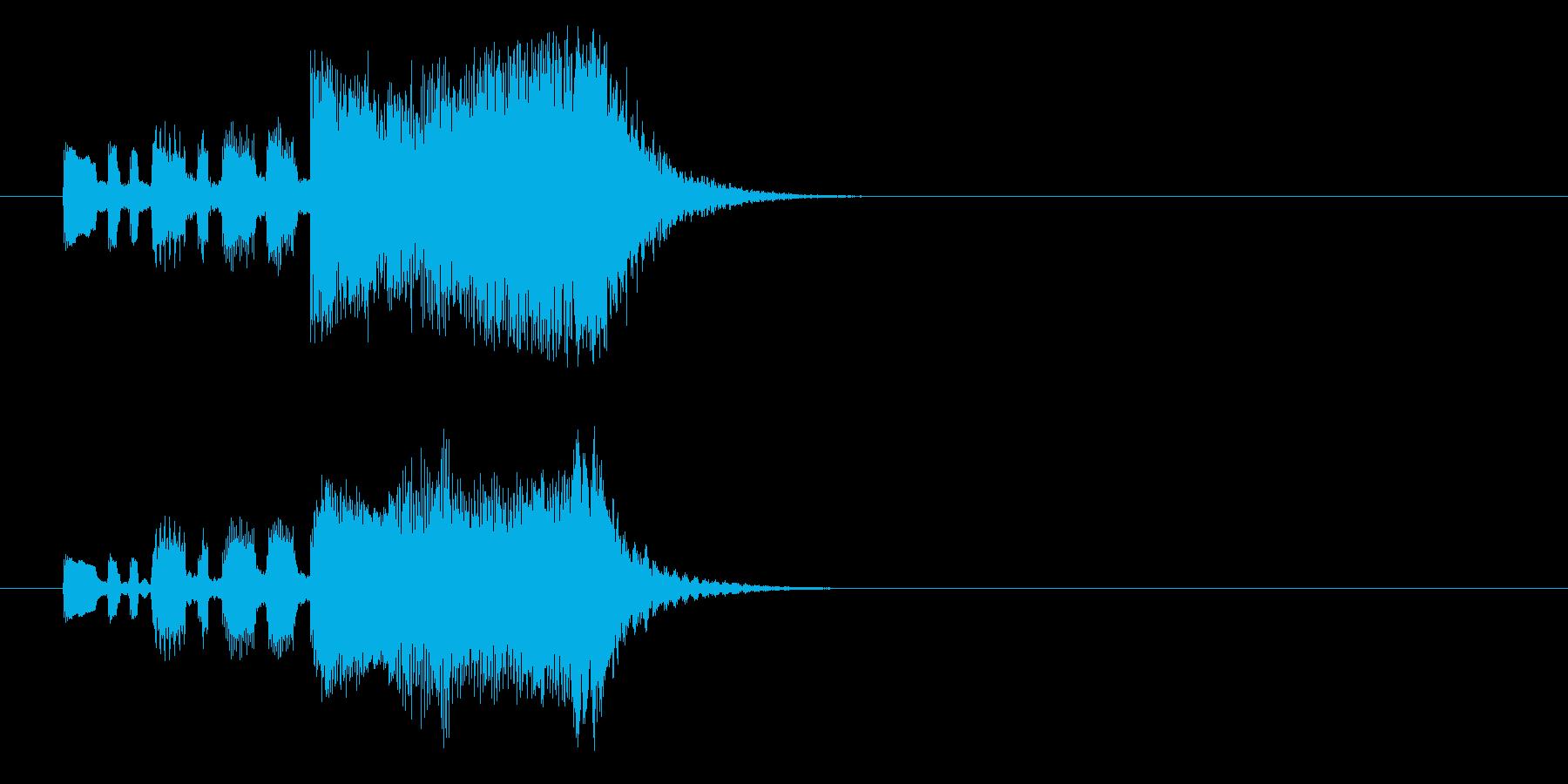 オーケストラ・ファンファーレ風ジングルの再生済みの波形