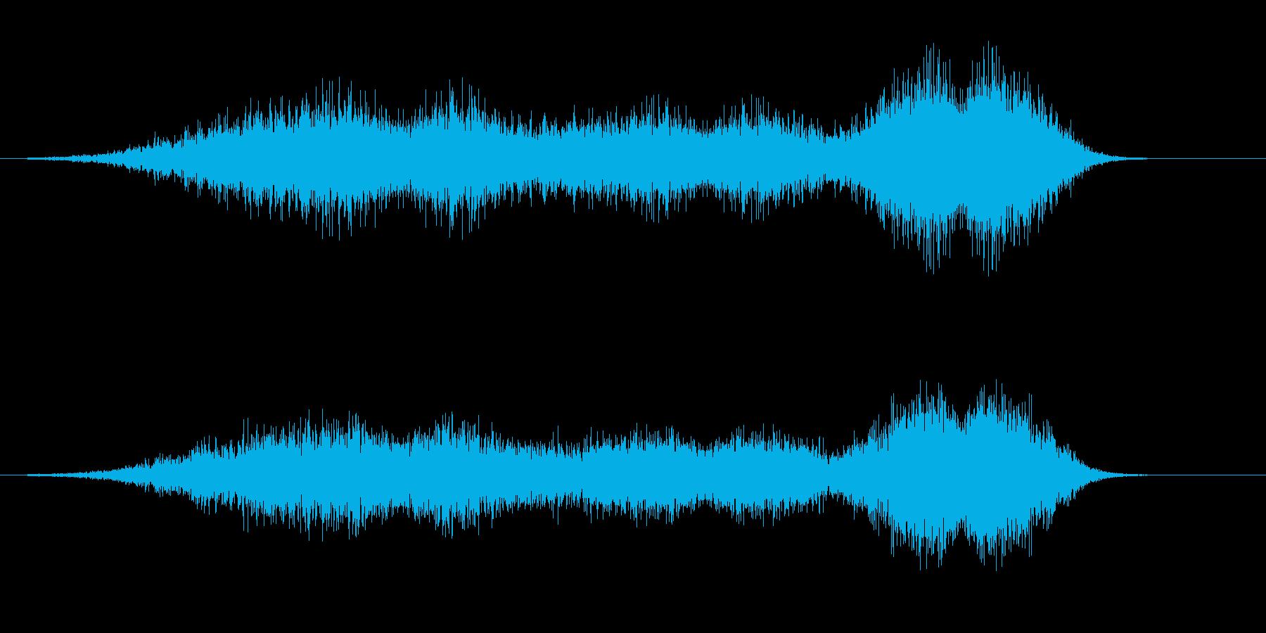【SE 効果音】風(ホラー)2の再生済みの波形