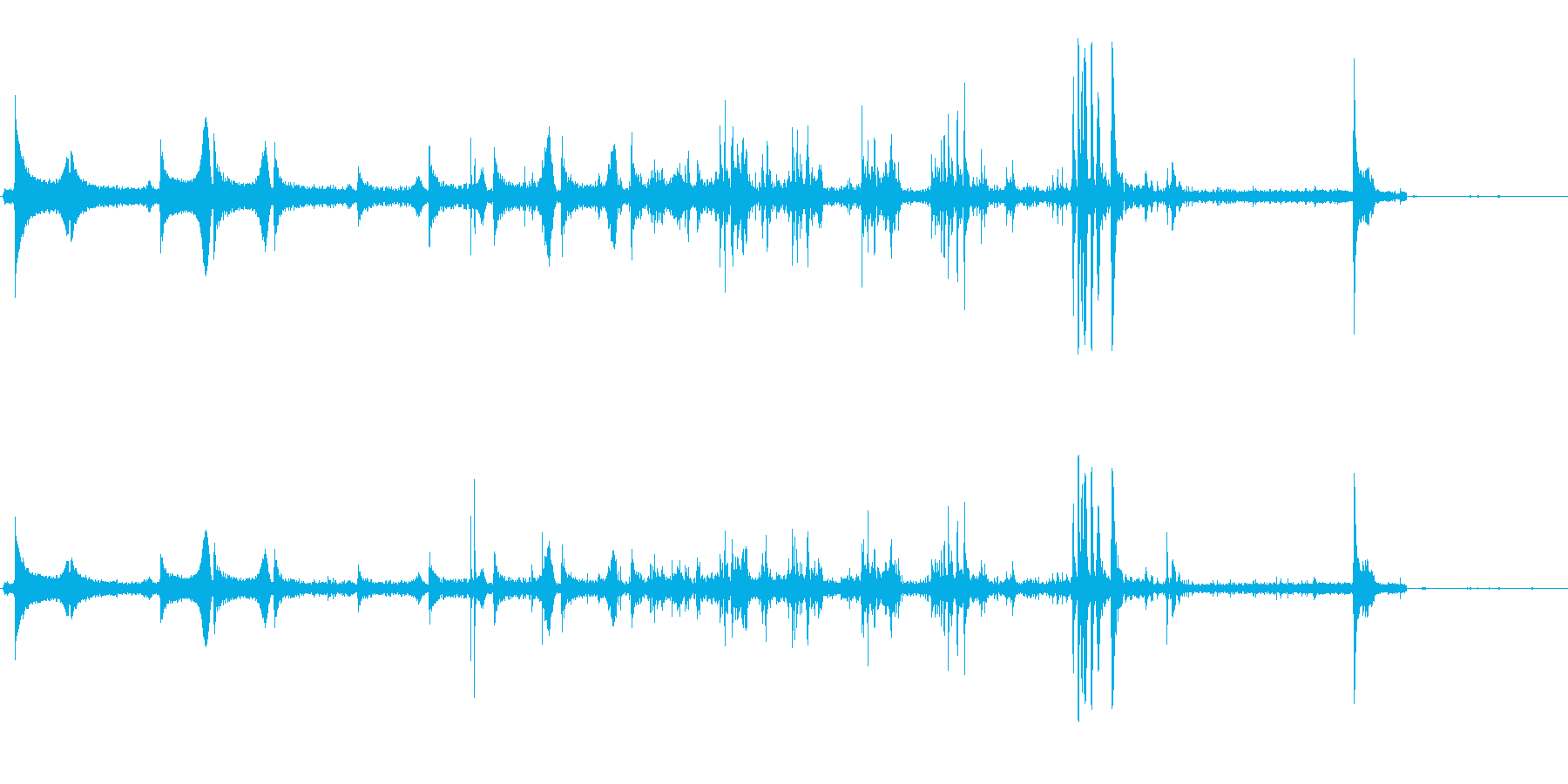 コポコポコポッキン(飲み物をつぐ音)の再生済みの波形