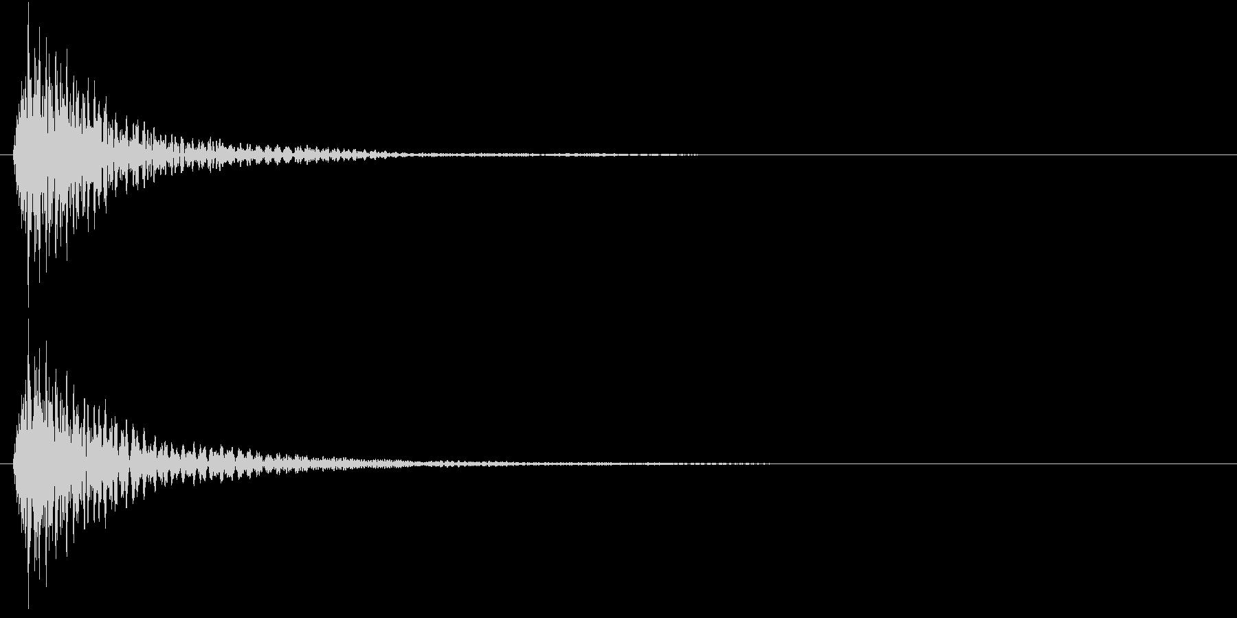 マリンバのクリック/キャンセル音の未再生の波形