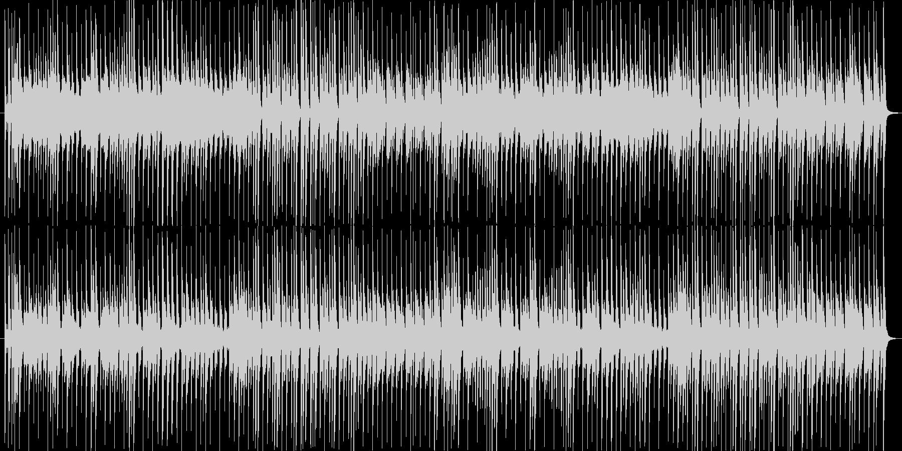 ほのぼのとした日常を彩るBGMの未再生の波形