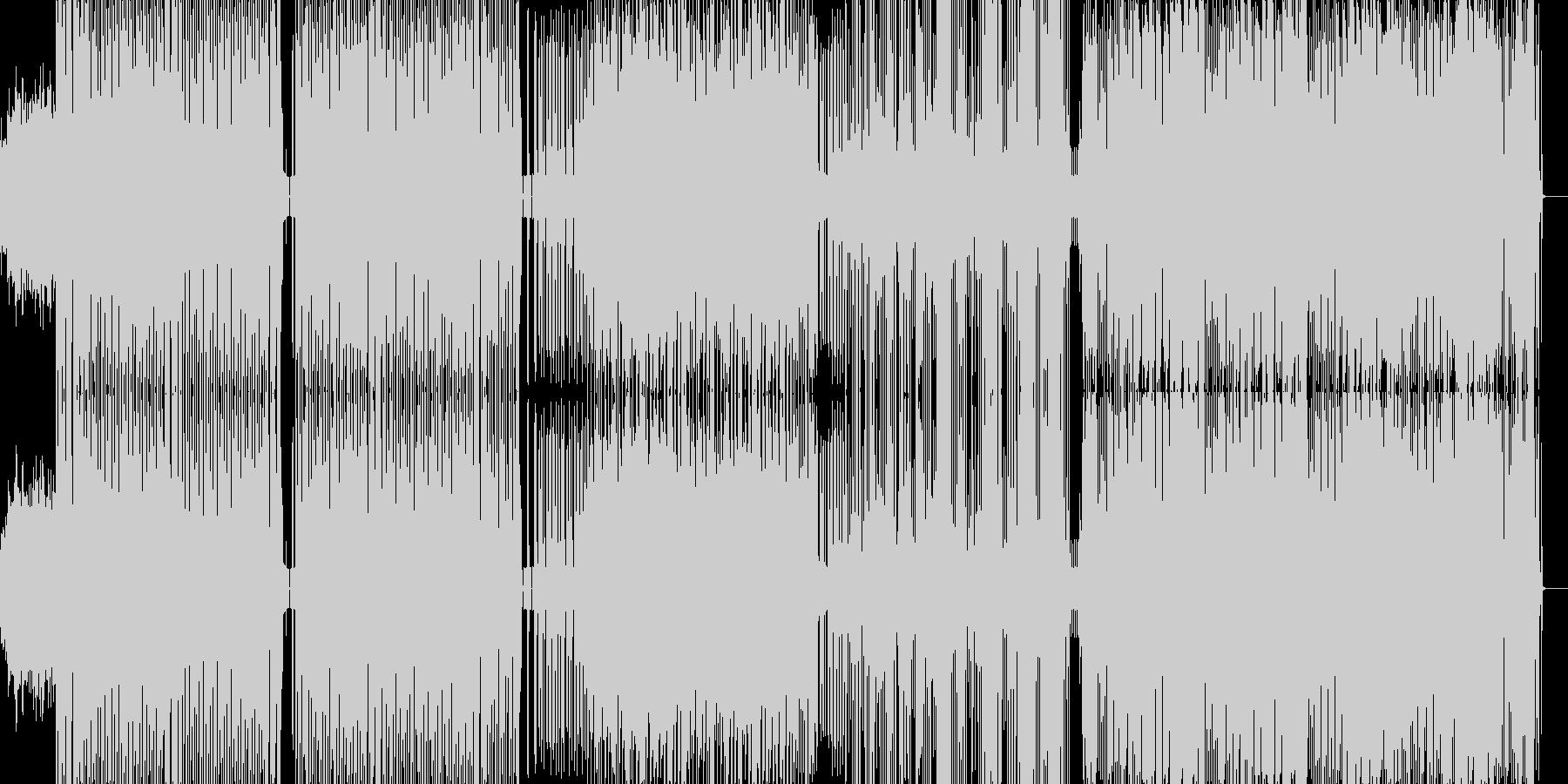 パーカッシブなディスコサウンドがあって…の未再生の波形